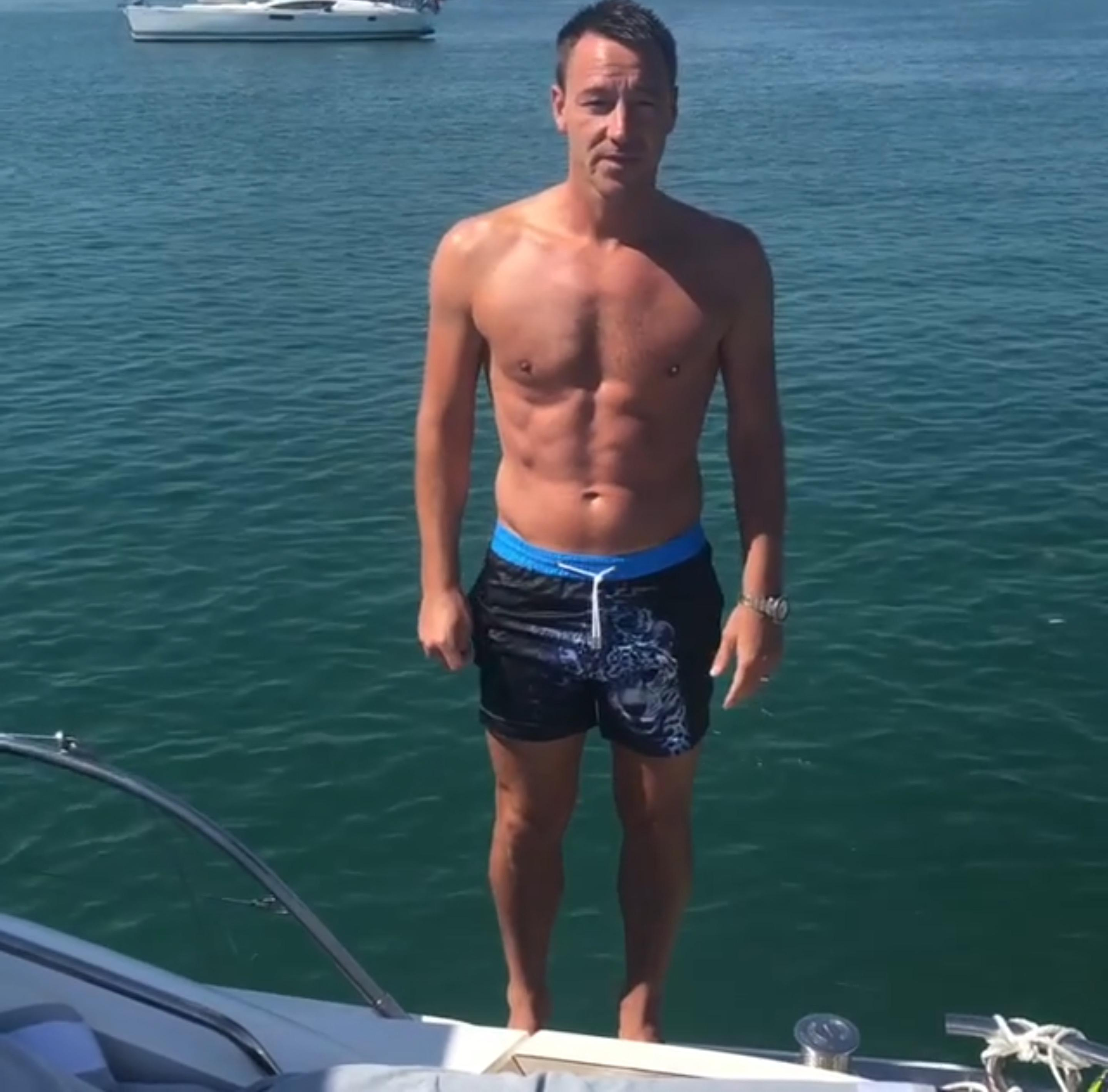 John Terry has been soaking up the sunshine while on holiday with his family this summer