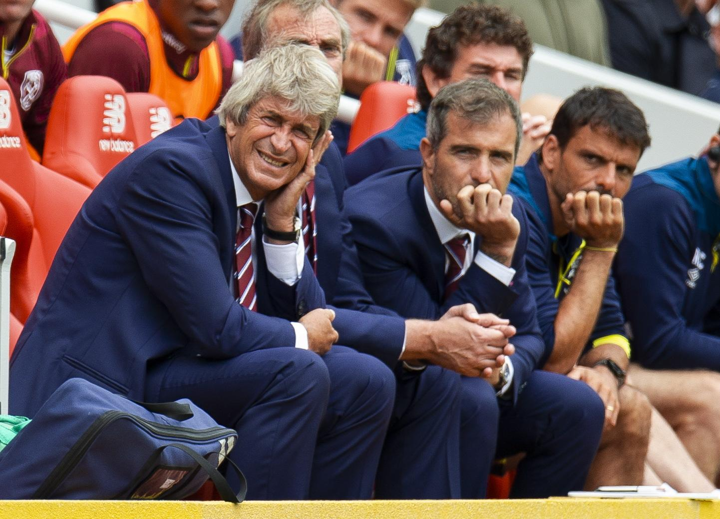 It was a hard first day of the season for Pellegrini