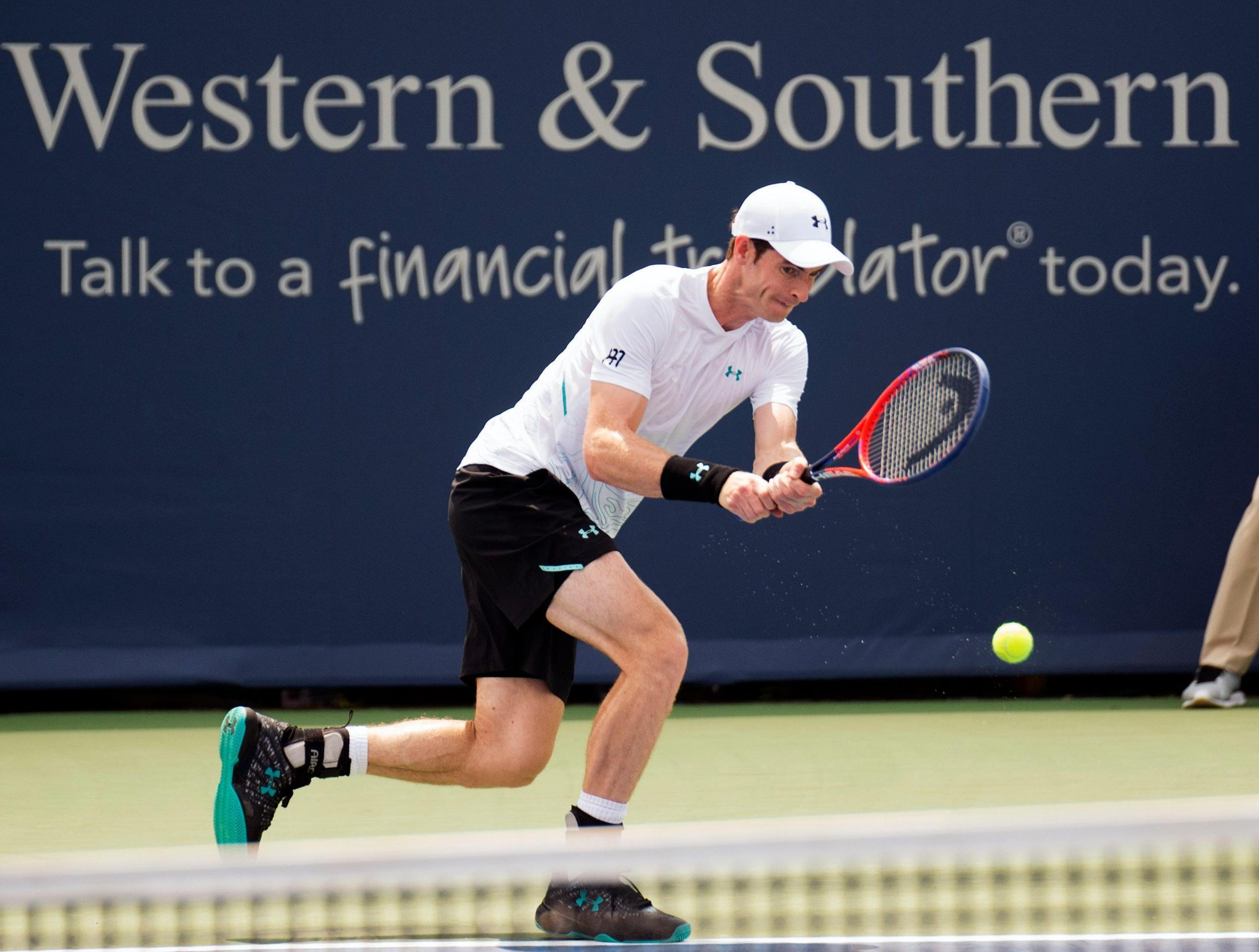 Scot Andy Murray looked rusty after missing the Citi Open in Washington