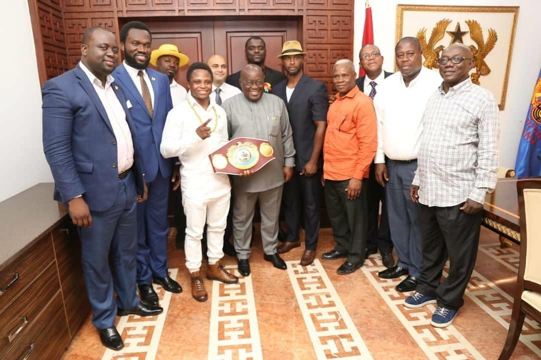 Dogboe took his WBO world title back to Ghana to share with family and dignitaries