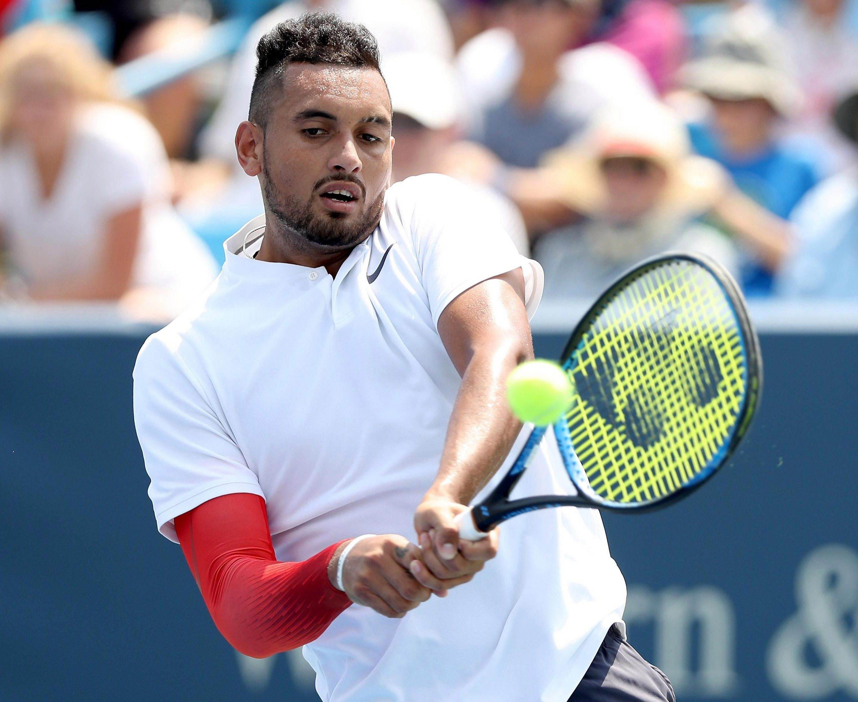 Nick Kyrgios did manage to go on to win the match despite losing the first set
