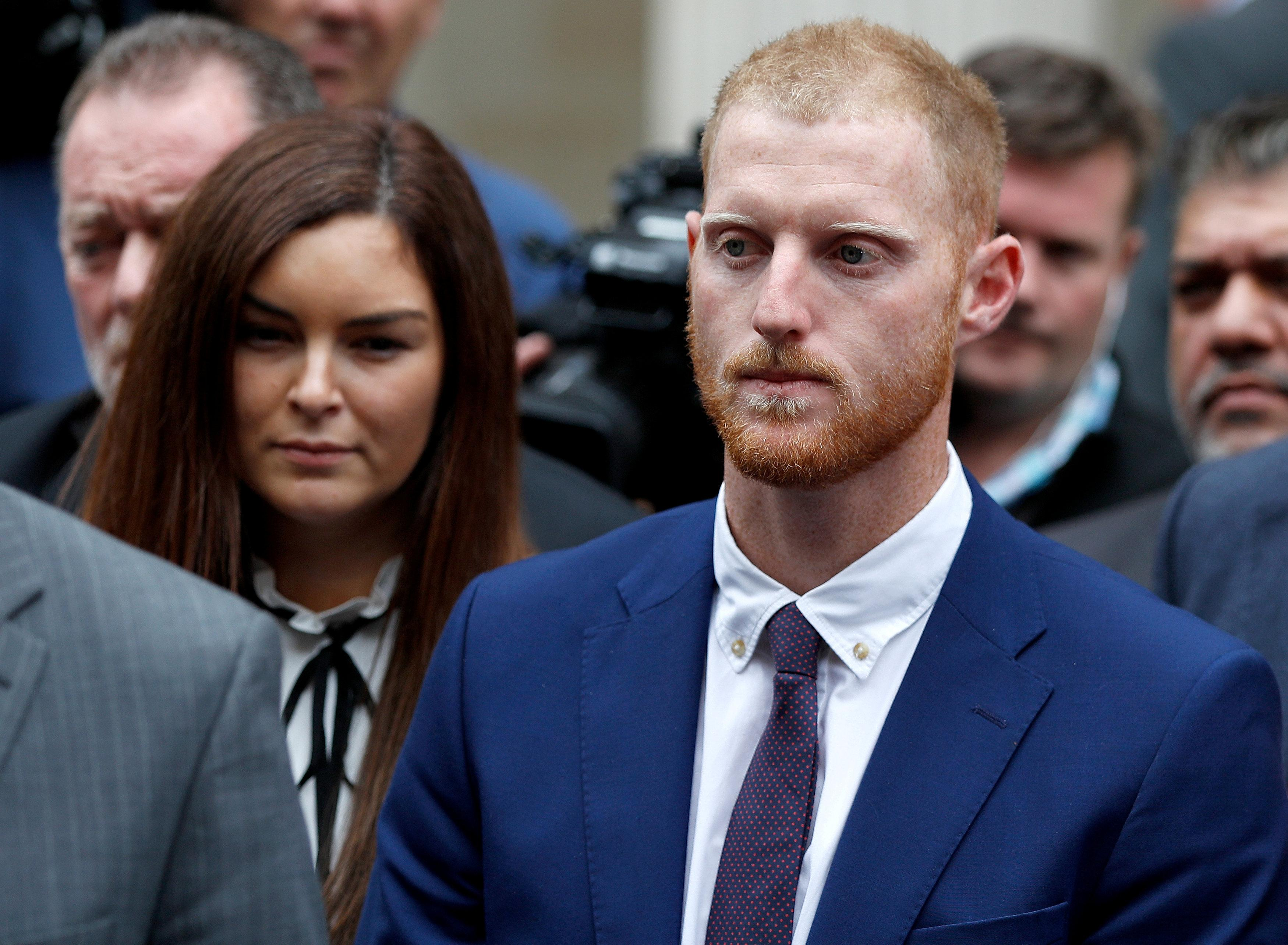 Ben Stokes was found not guilty of affray in Bristol last month