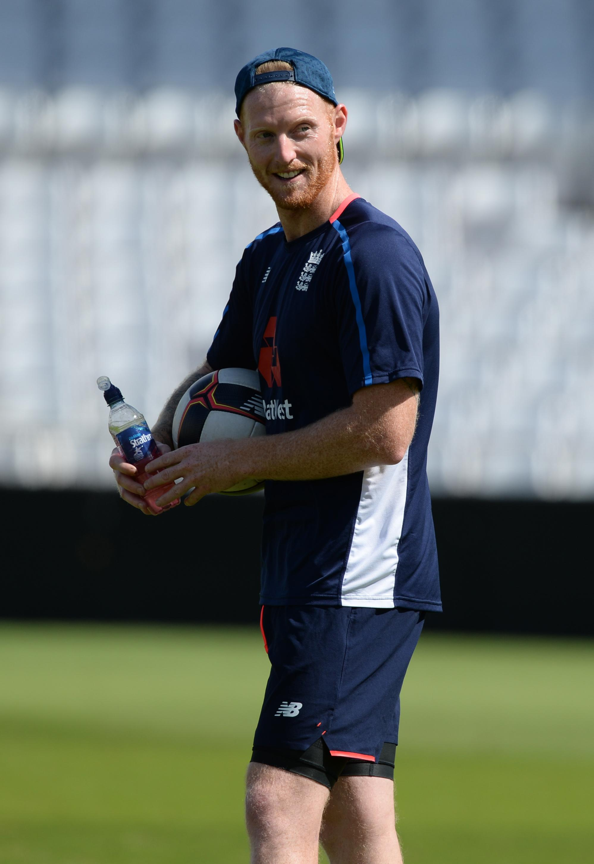 Stokes trained with the England squad on Thursday after being cleared of affray