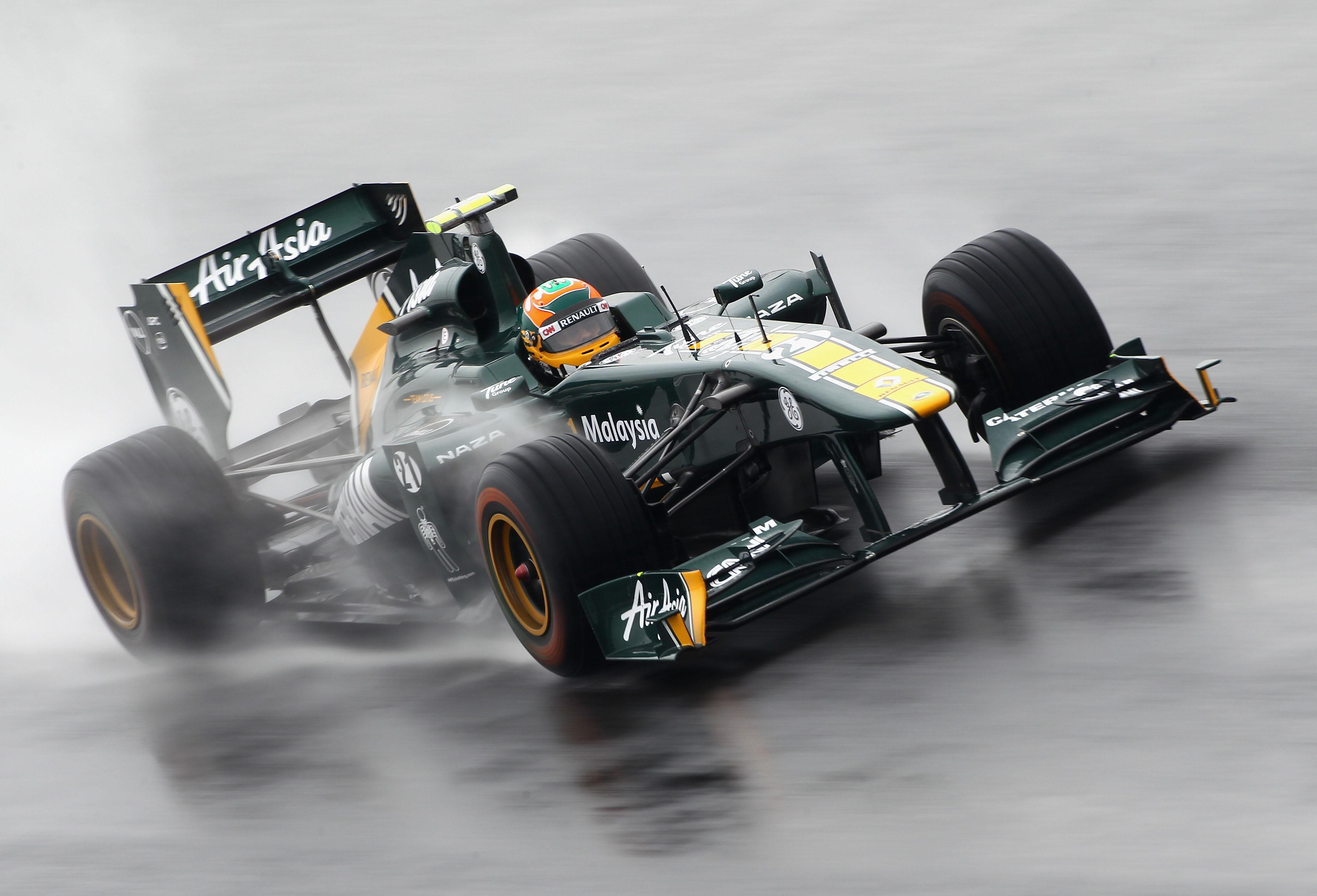 Karun Chandhok of Team Lotus drives during practice for the Korean Formula One Grand Prix in 2011