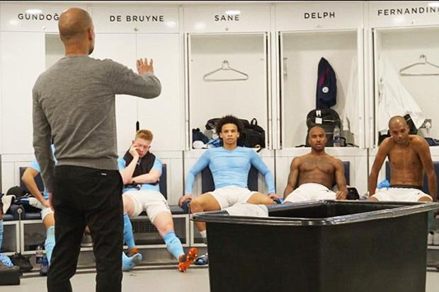 Pep Guardiola tried to calm Delph after he ranted at his City team-mates in April
