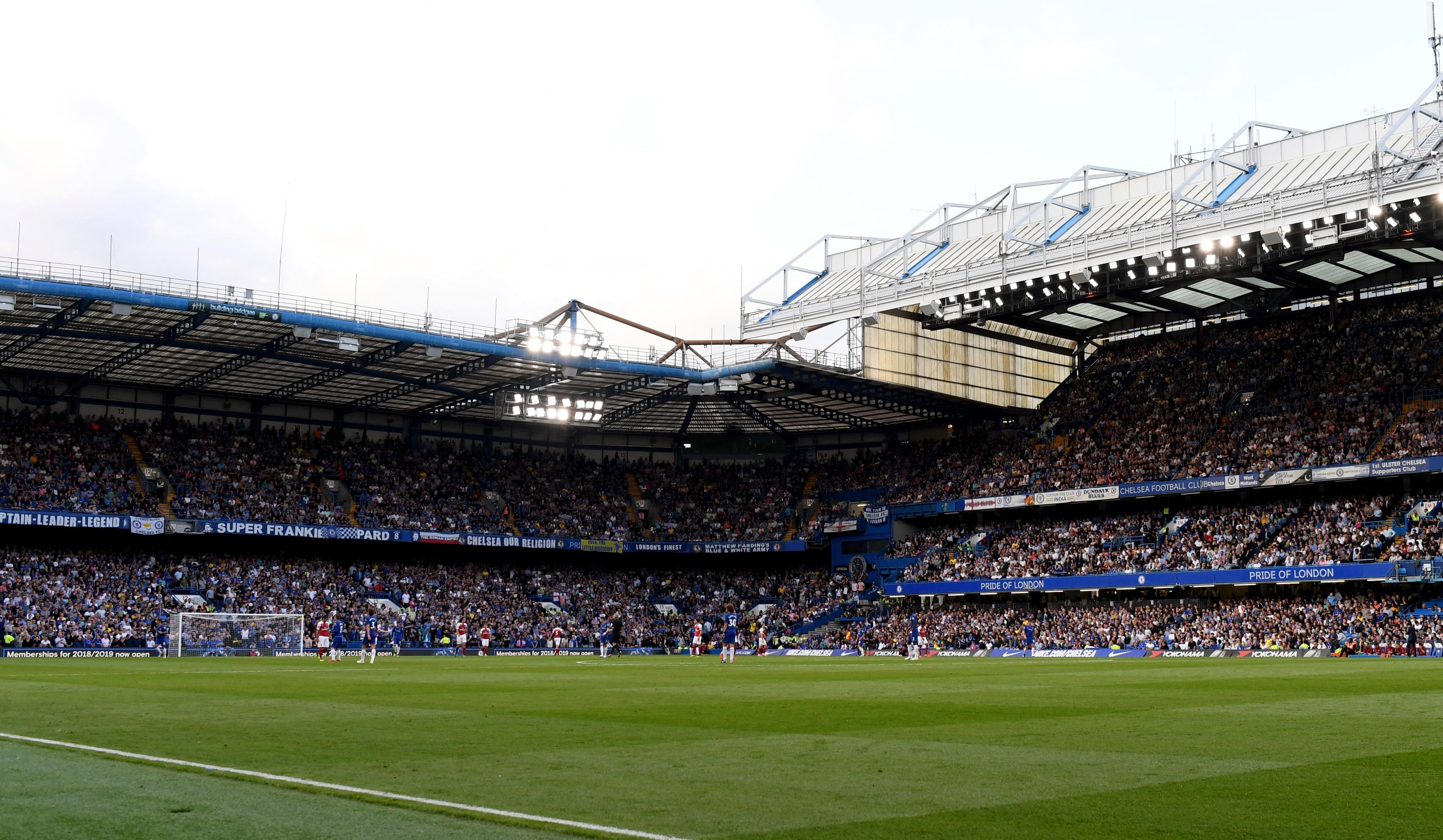 Chelsea in action at Stamford Bridge. Abramovich has previously halted plans for a new 60,000-capacity stadium
