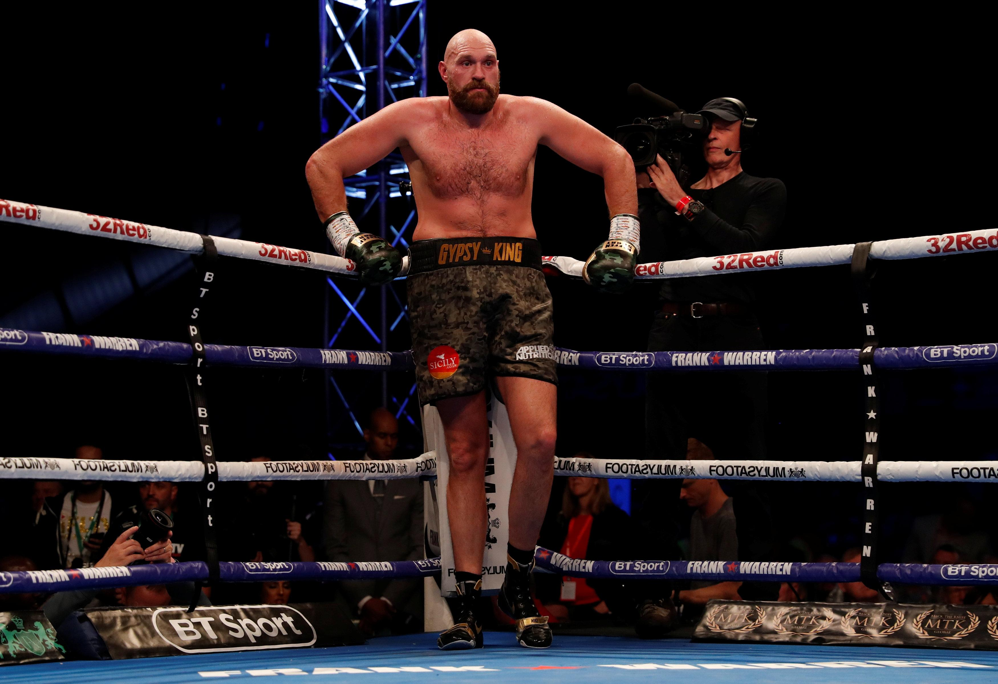 Tyson Fury used the ropes to good effect in his last fight