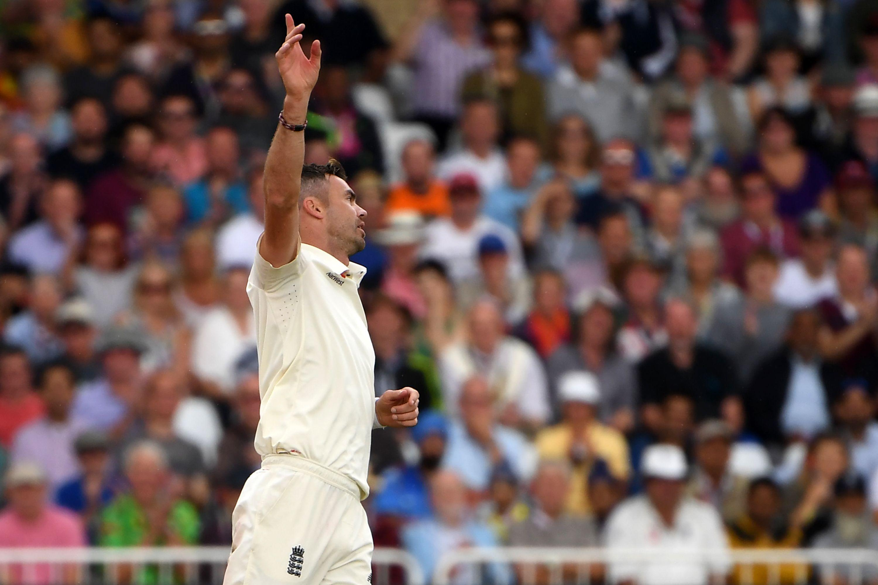 James Anderson began India's second innings on a hat-trick after taking the last two wickets earlier on in successive deliveries