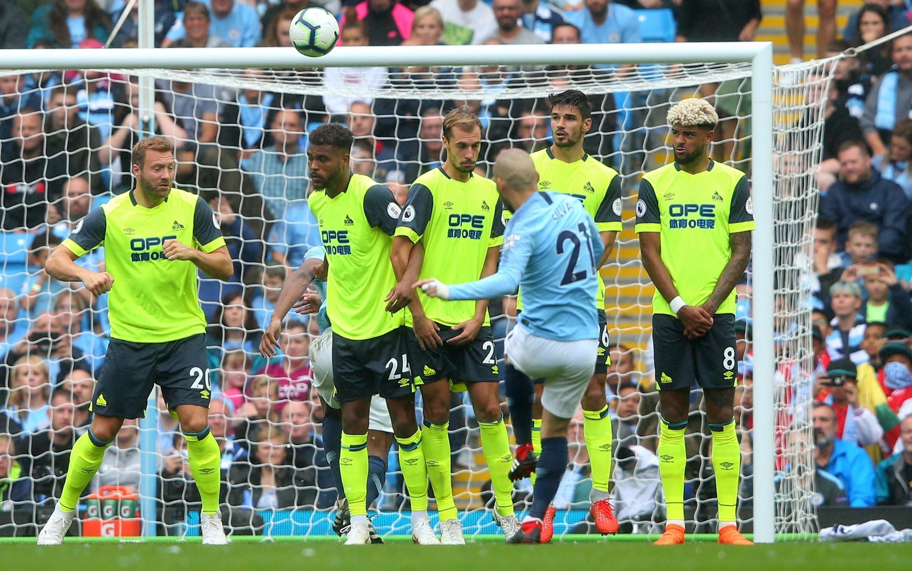 David Silva capped a fine performance against Huddersfield with a splendid finish from the set-piece