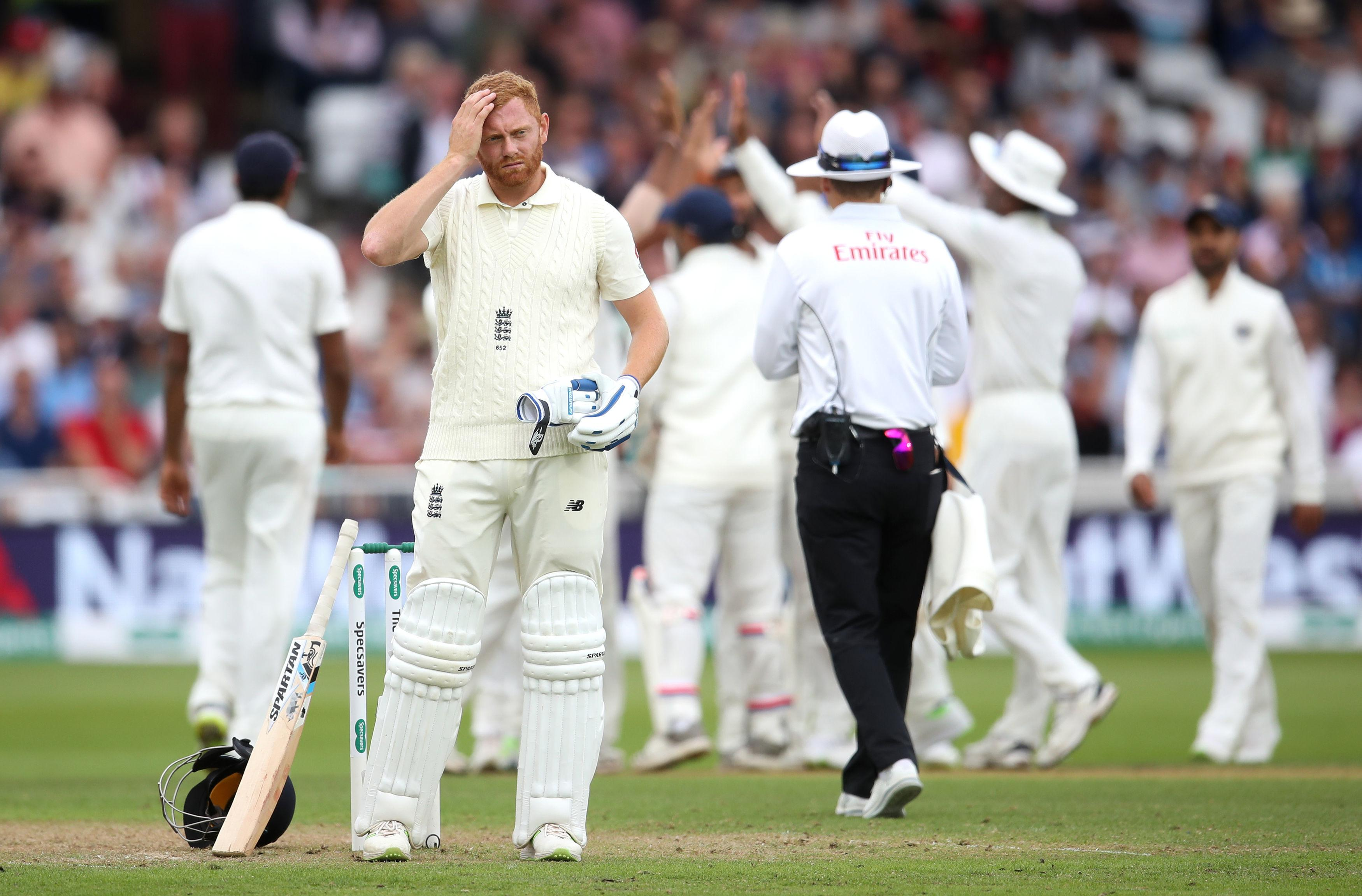 England's innings lasted just 38.2 overs as they were skittled by the Indian bowling attack