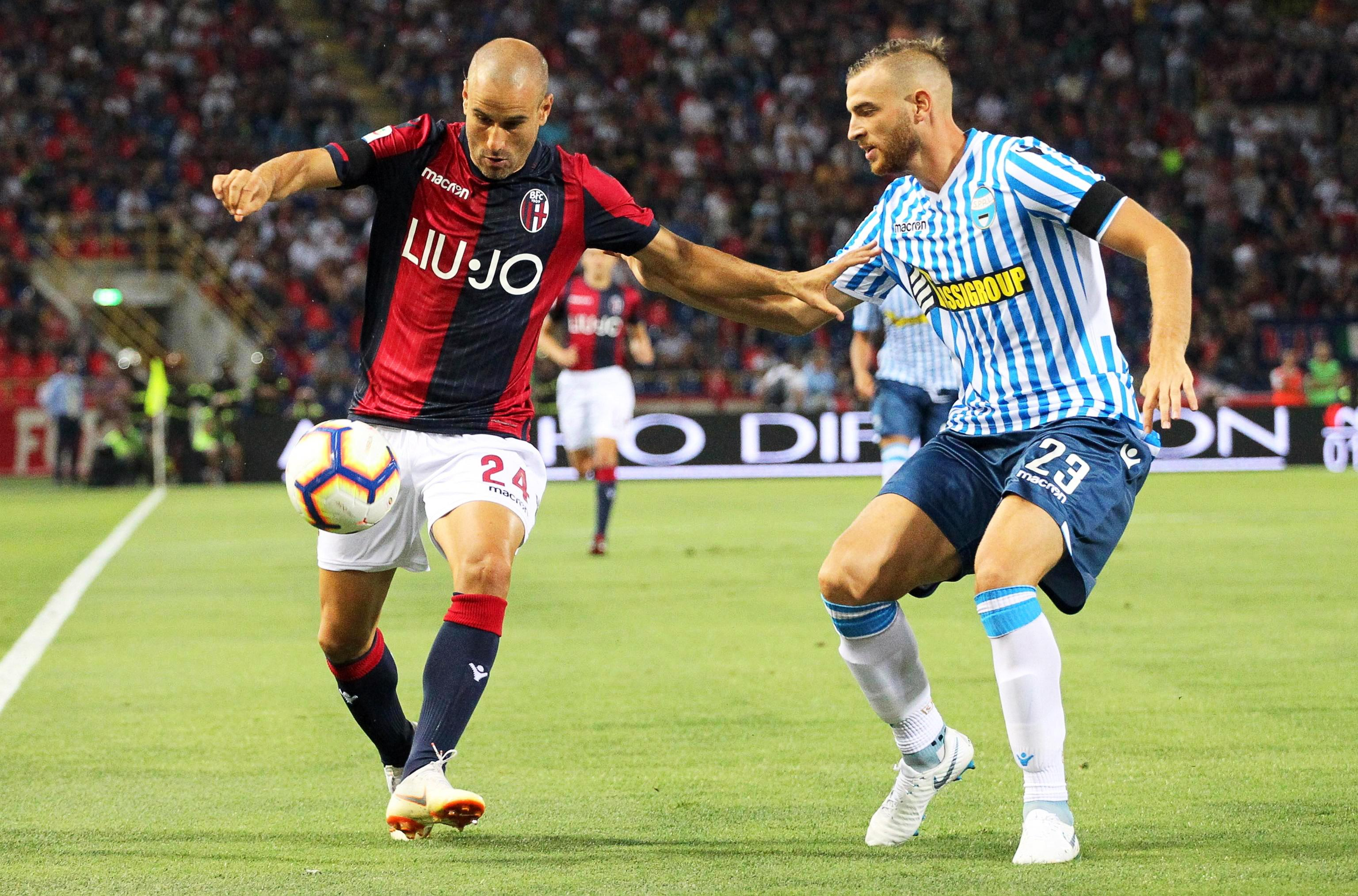 Former Inter Milan striker Rodrigo Palacio, left, will miss the game against his old club through injury