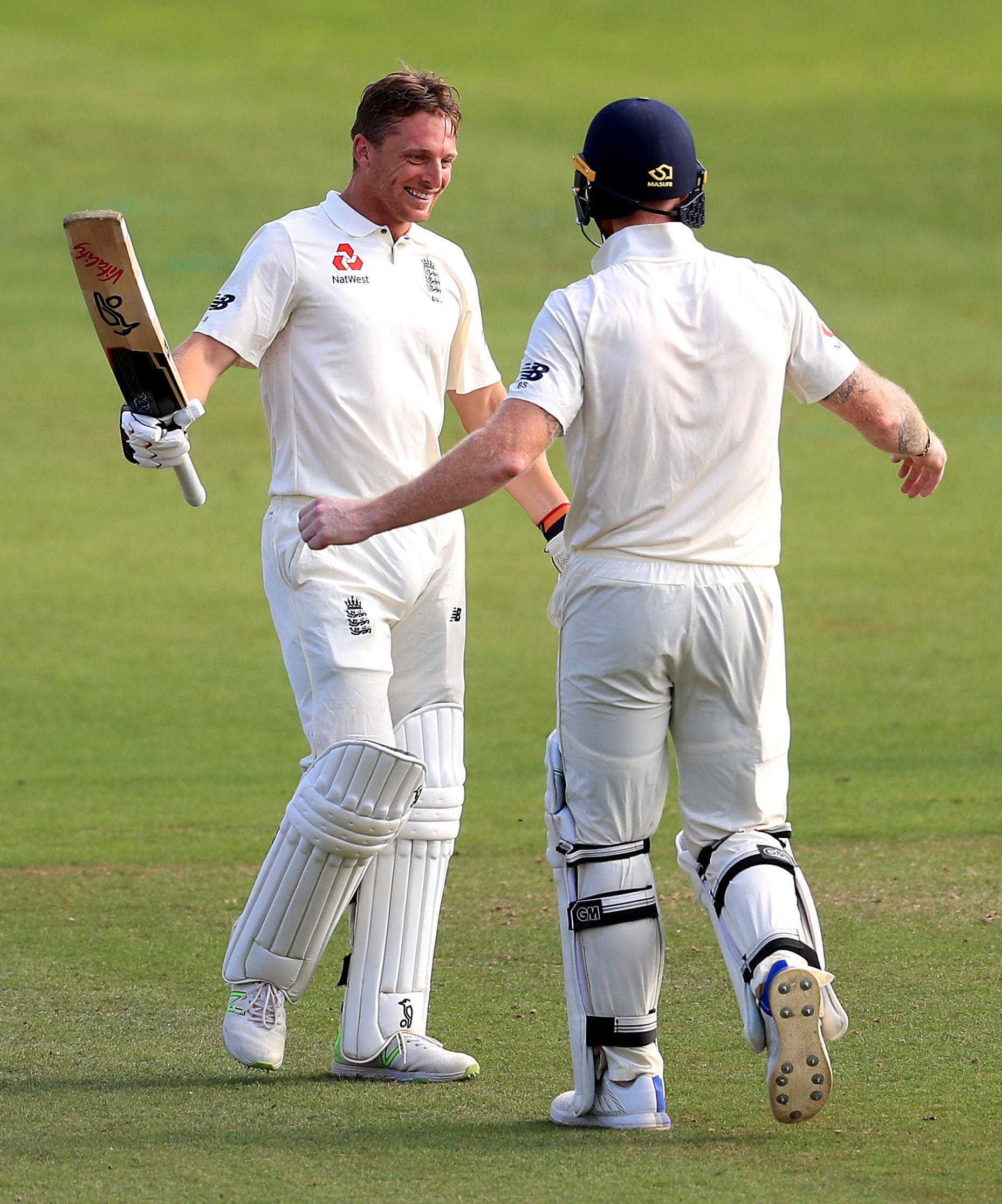 Ben Stokes helped Jos Buttler reach a maiden Test century