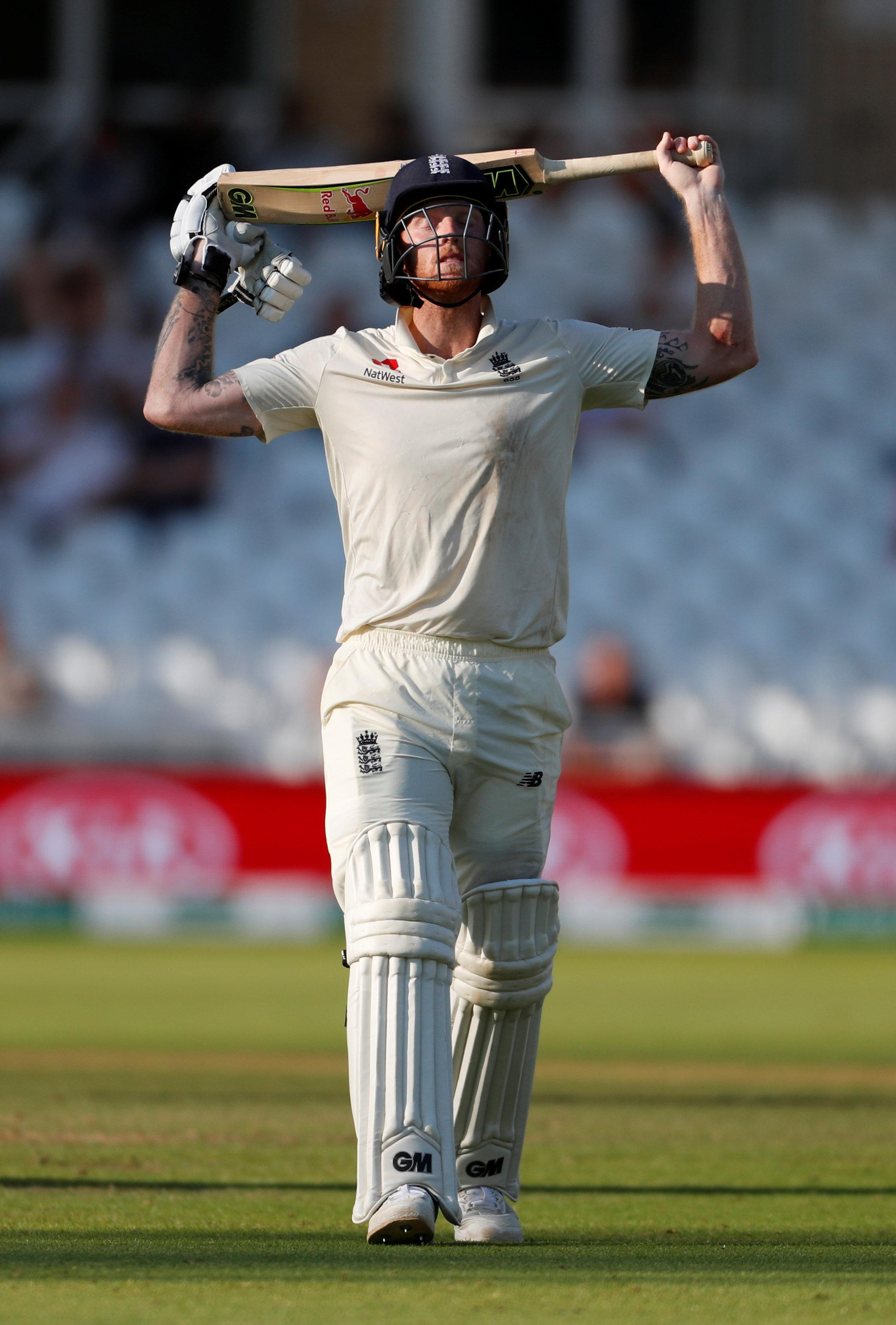 Ben Stokes batted doggedly for his 50, but fell amidst an England collapse
