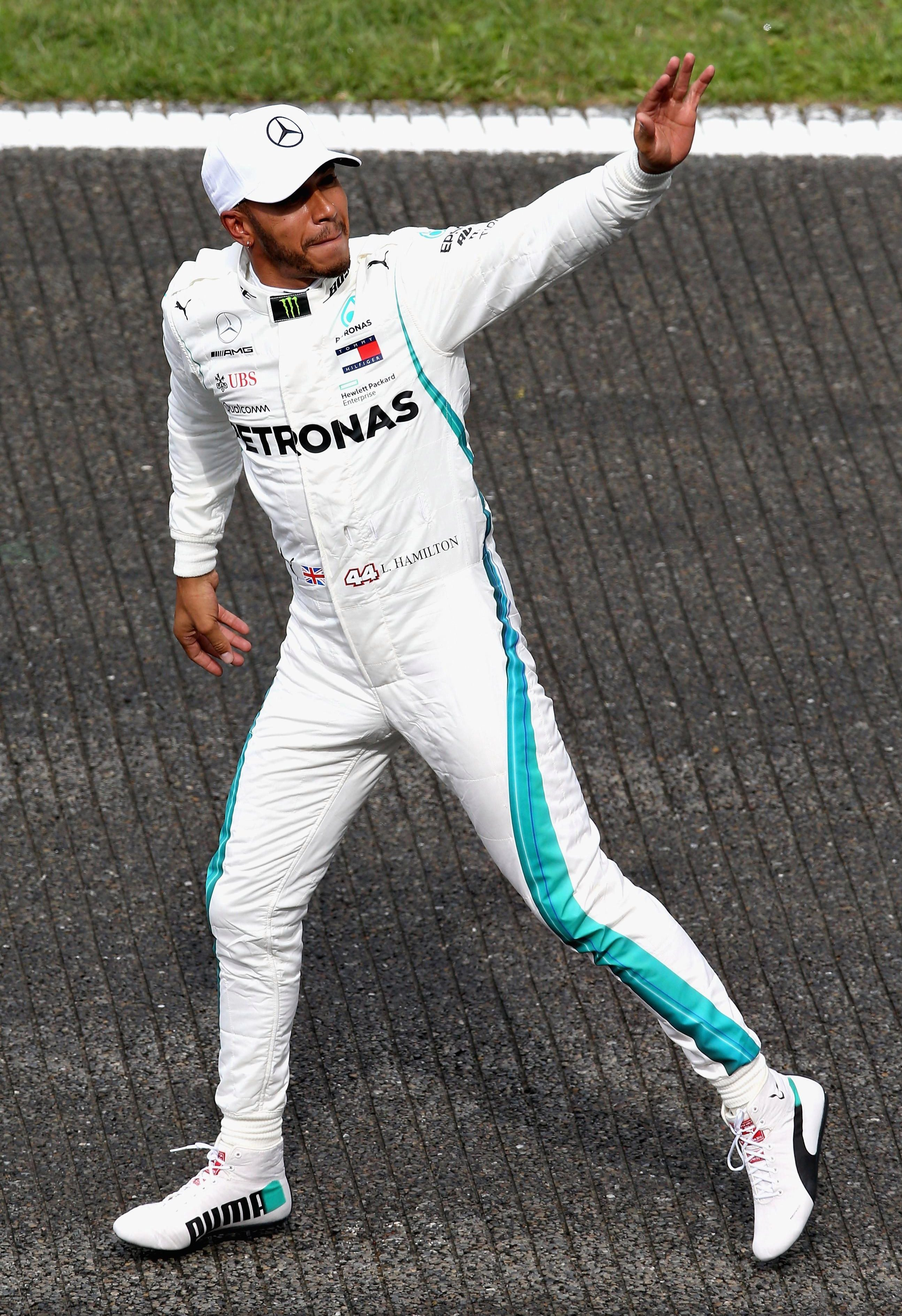 It is the British driver's 78th pole position in Formula 1 and extends his record