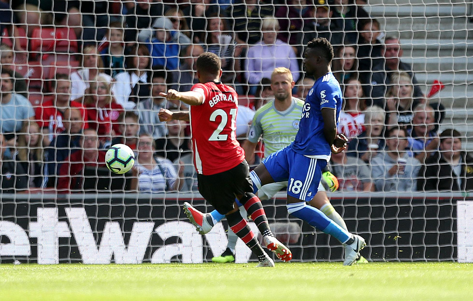 Ryan Bertrand produced a bullet strike for Southampton against Leicester