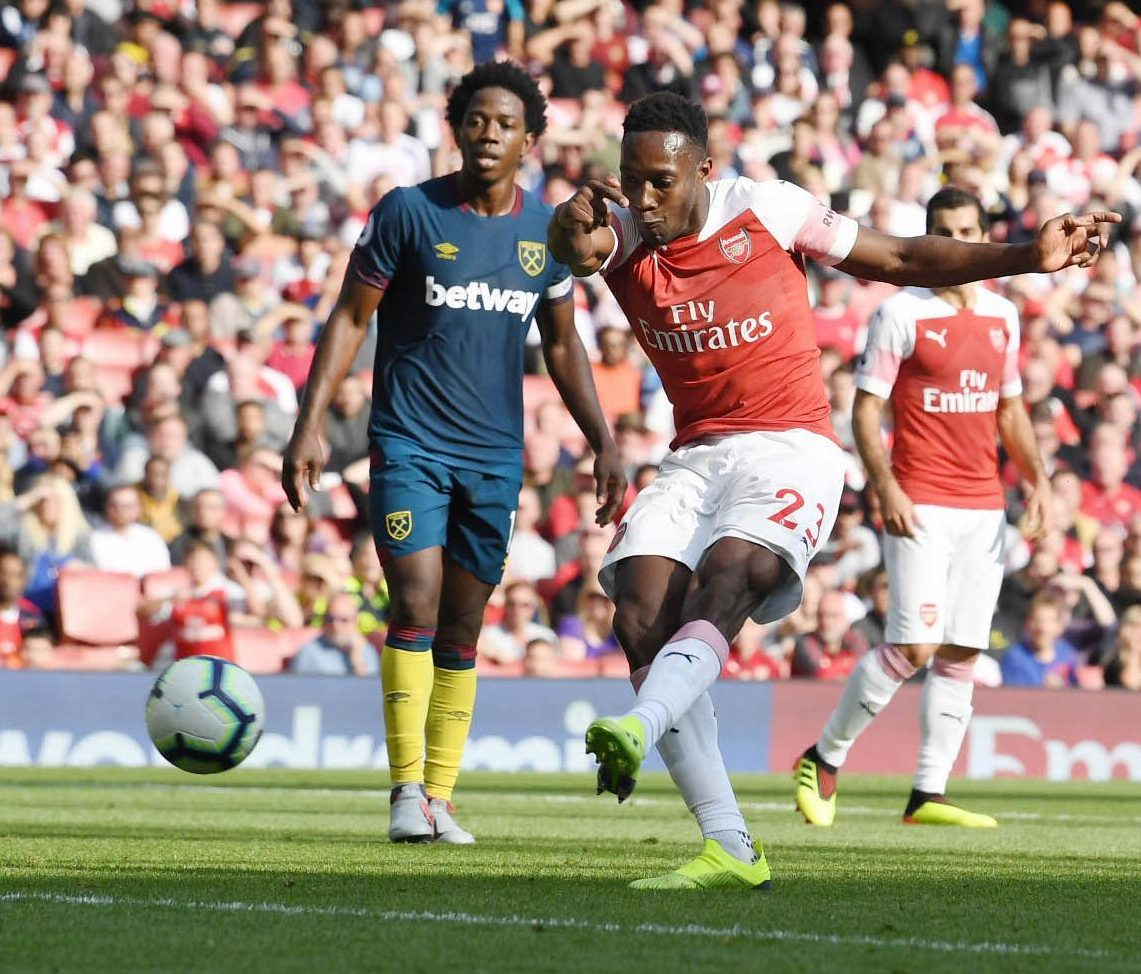 Danny Welbeck netted the final goal of the game in stoppage time at the Emirates