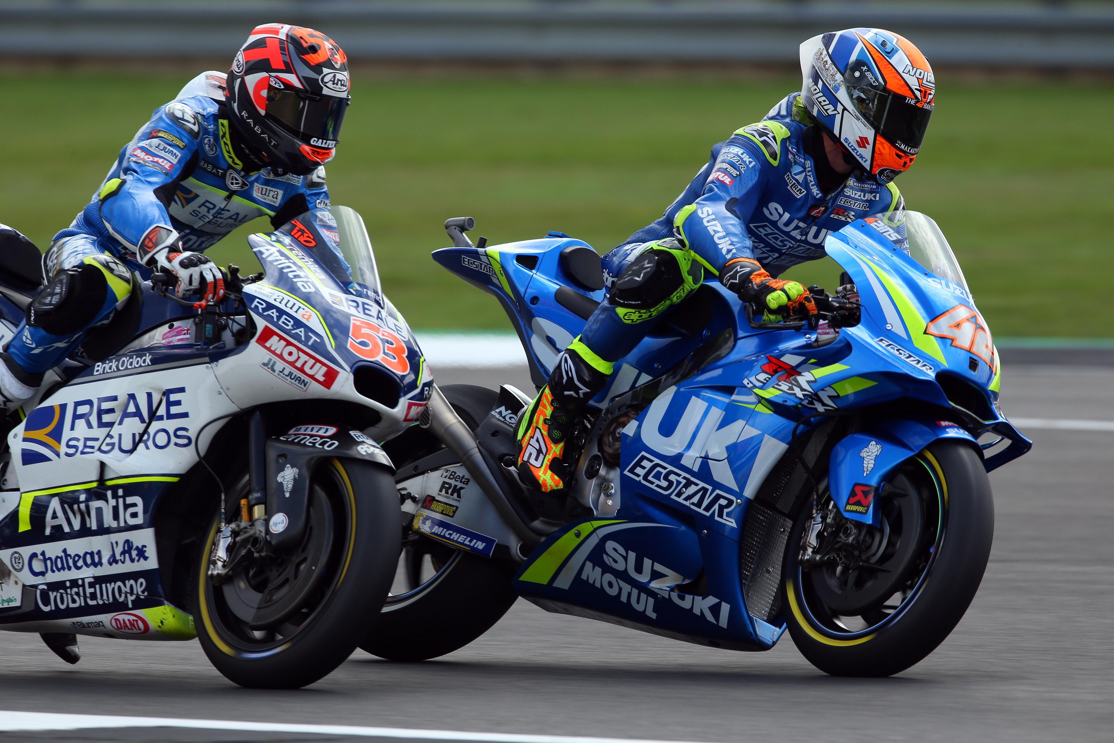 Suzuki rider Alex Rins witnessed the accident