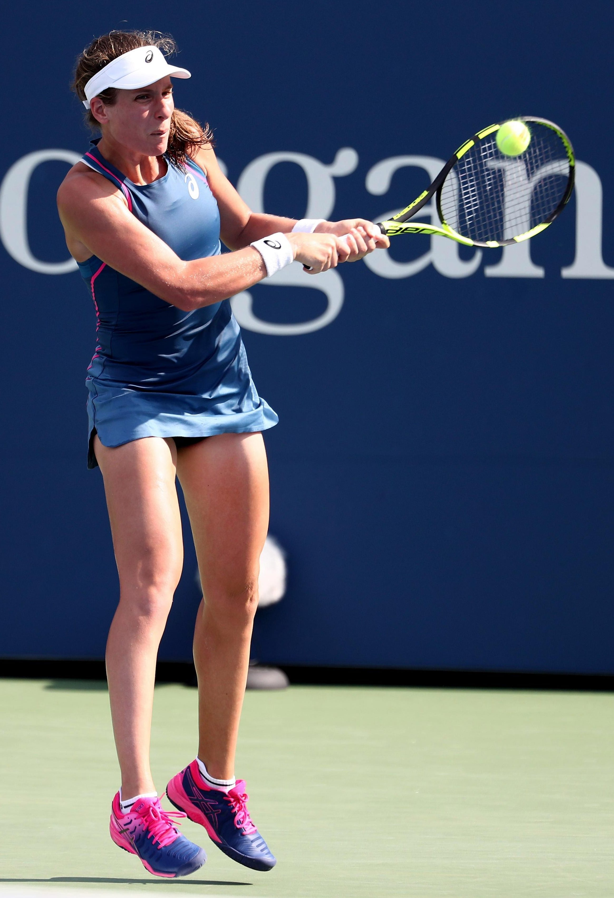 Jo Konta lost in the first round in New York for the second year in a row