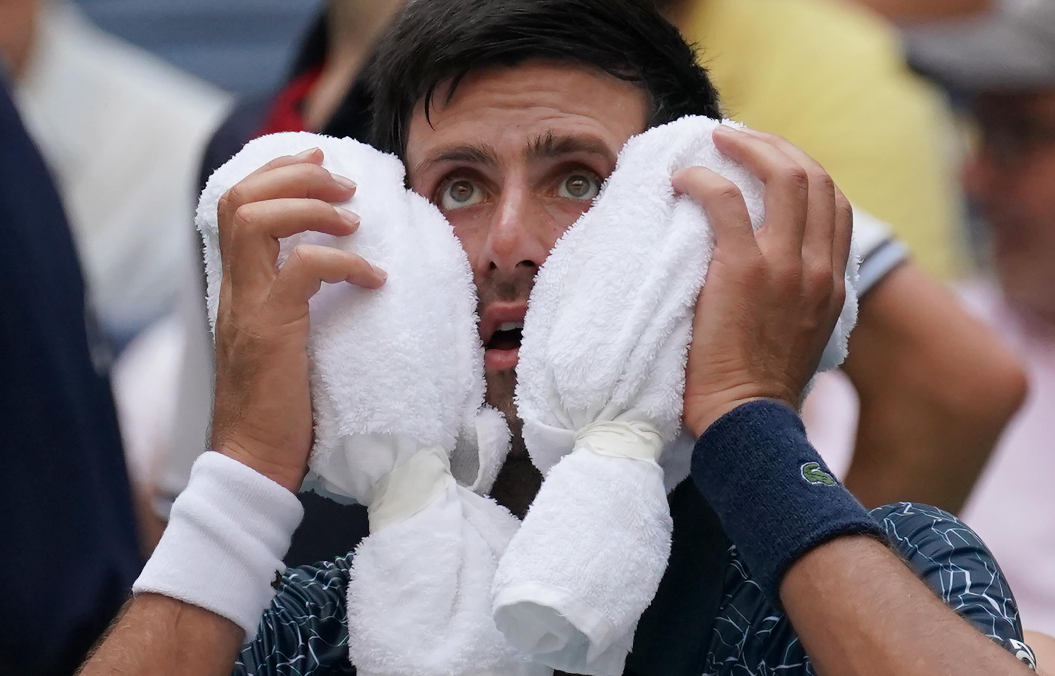 Novak Djokovic suffered with the heat in New York with temperatures touching 40 Celsius