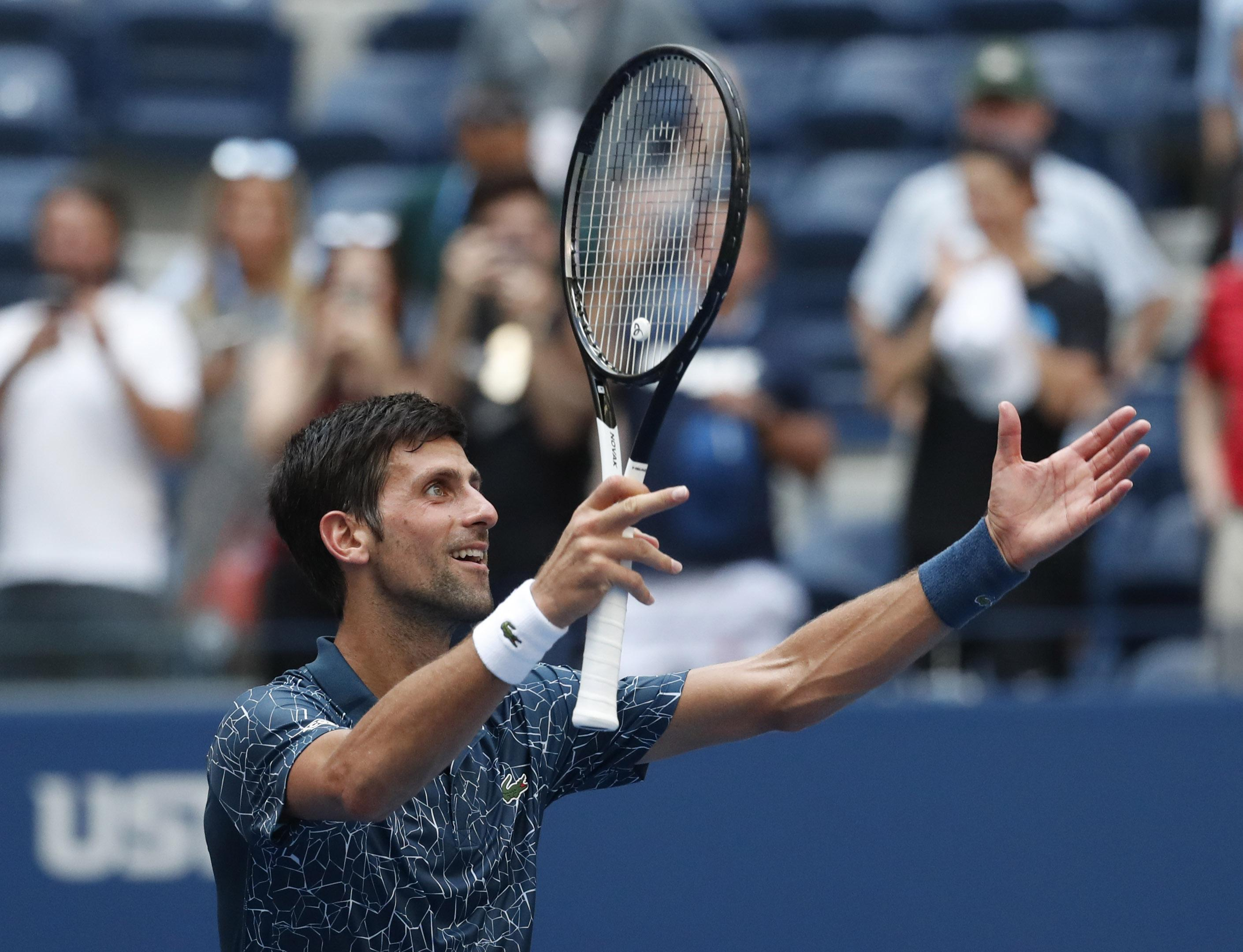 Novak Djokovic came through a tricky first-round match in New York