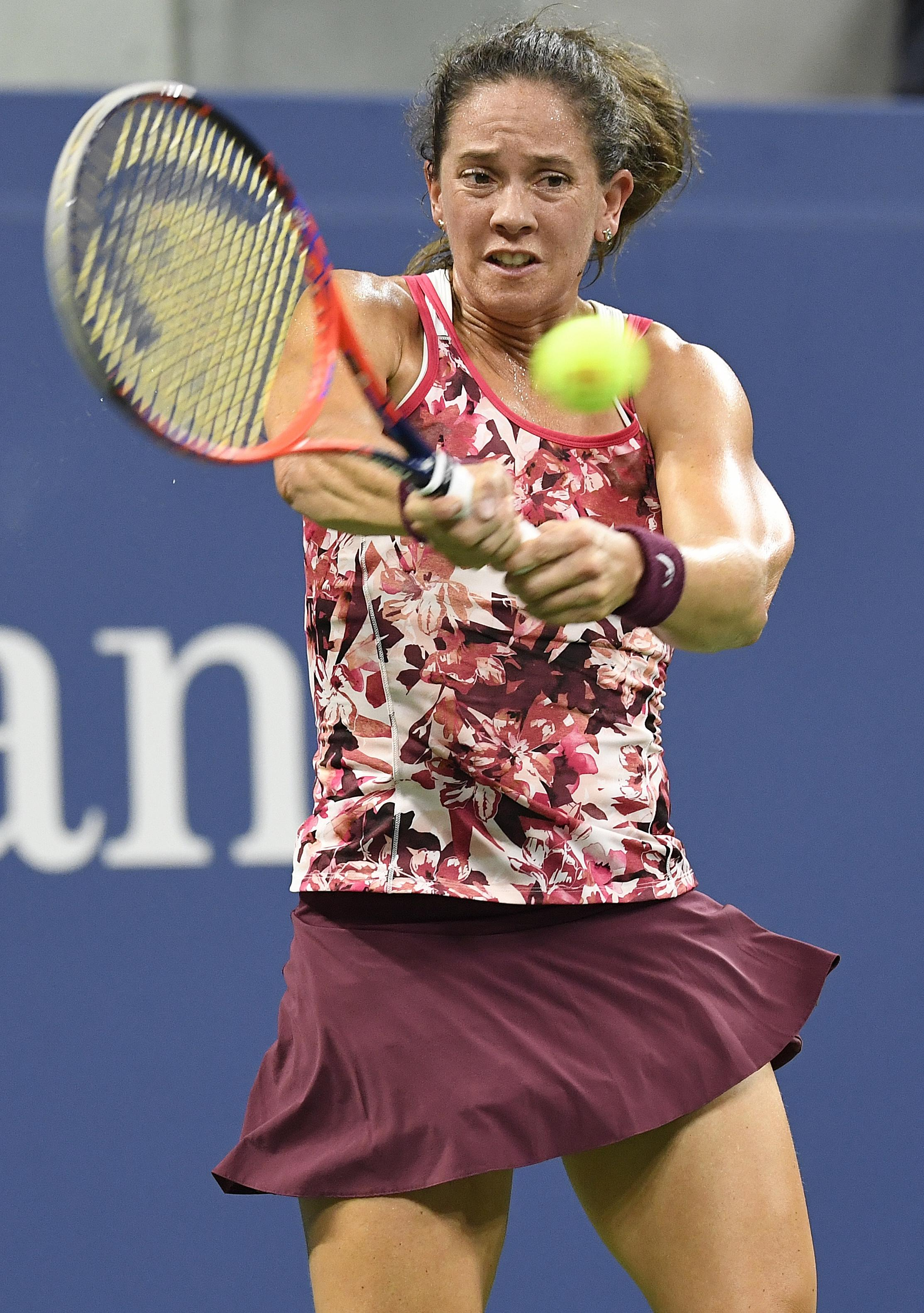 Patty Schnyder was playing in the US Open 21 years after her first appearance