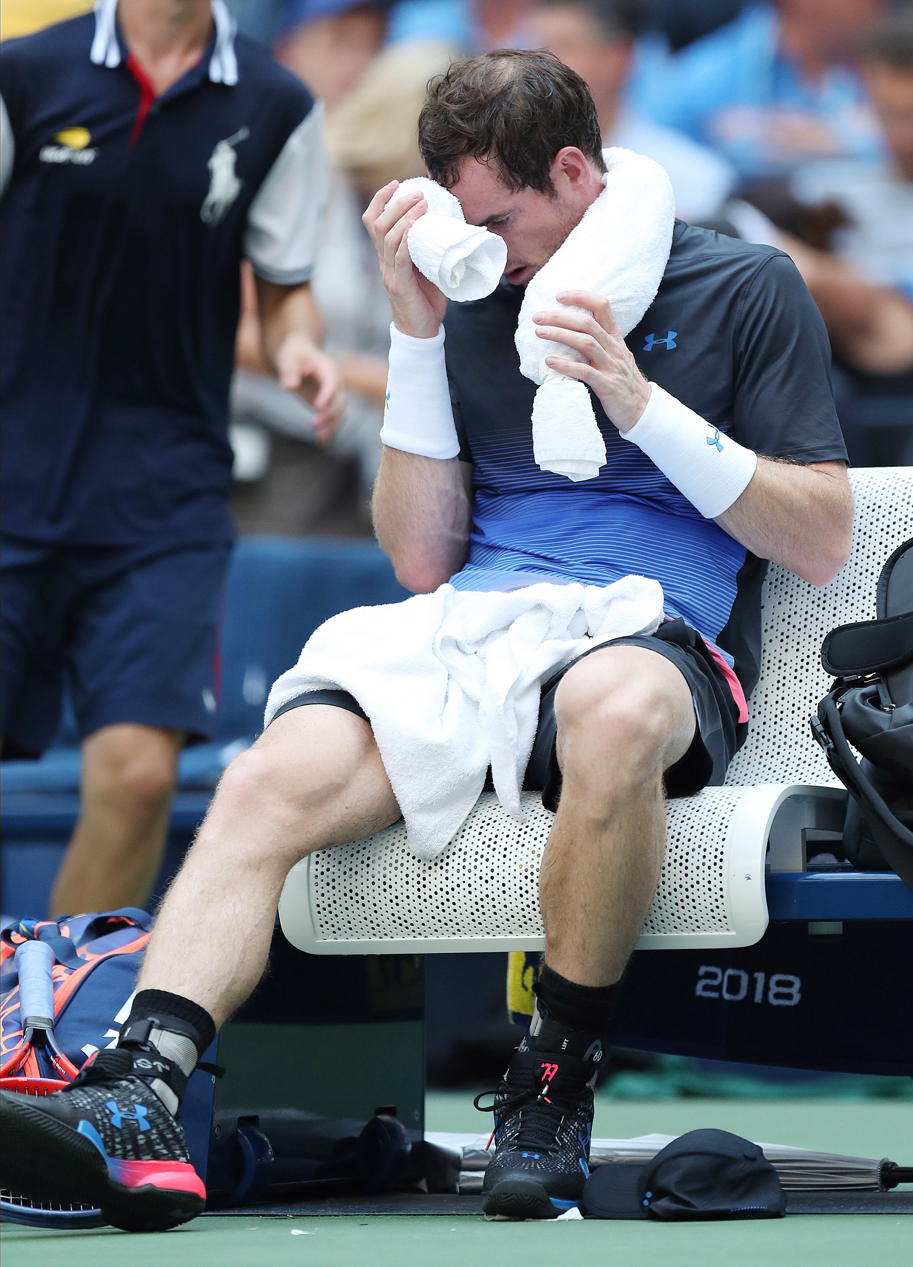 Murray suffered in the heat on Arthur Ashe as he fell in the second round to Fernando Verdasco