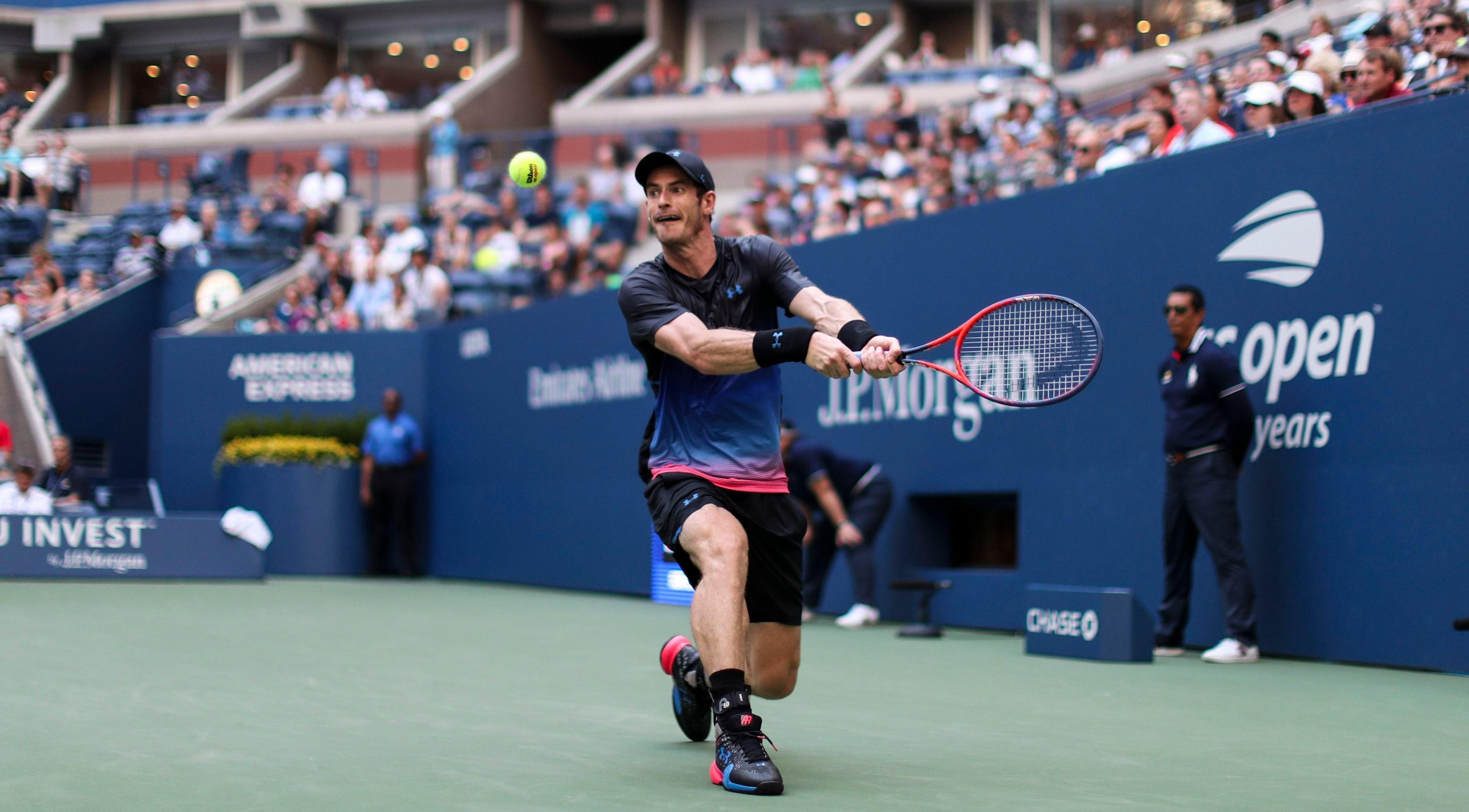 Andy Murray was playing in his first grand slam for 13 months