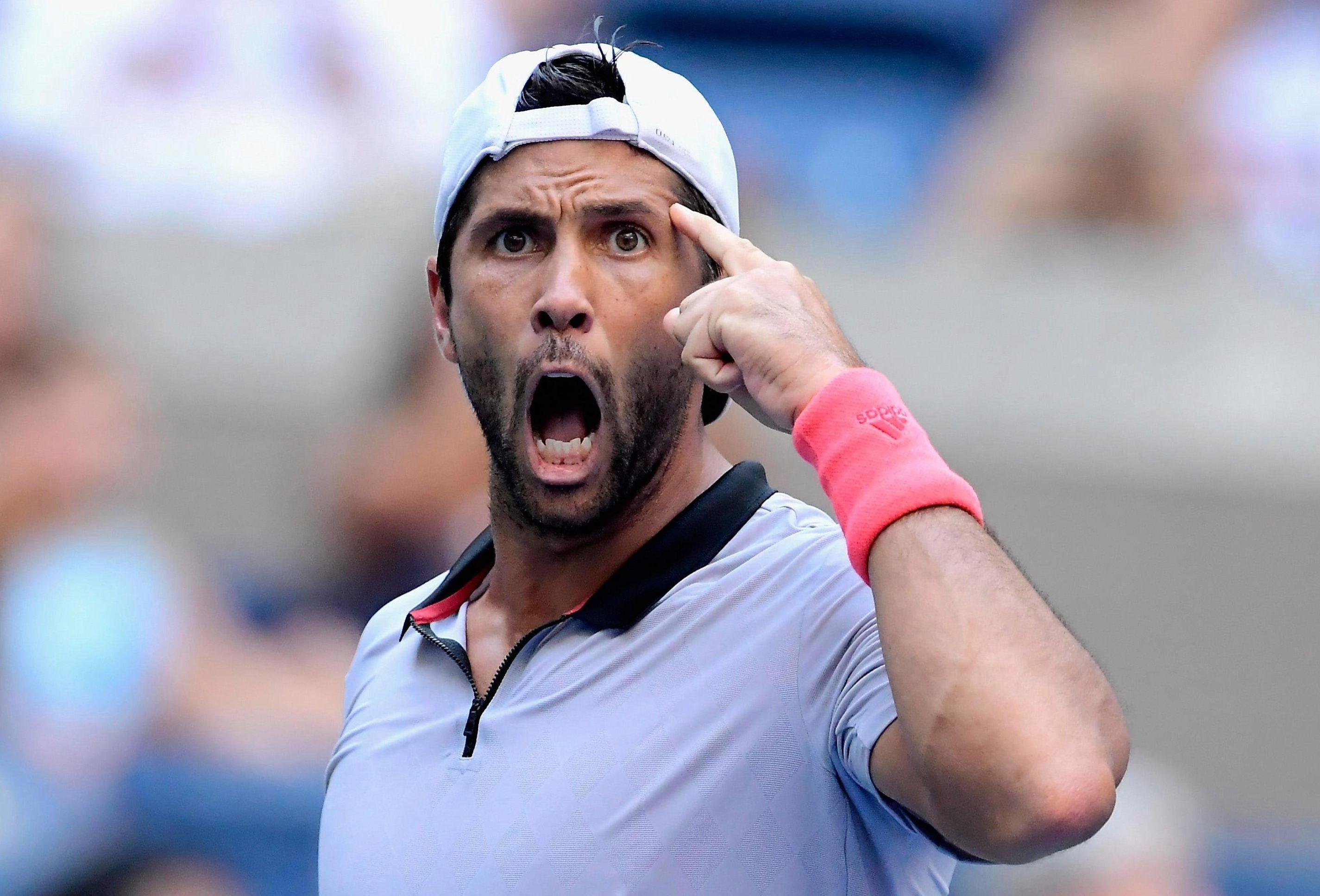 Fiery Spaniard Fernando Verdasco claimed a four-set win on Arthur Ashe Stadium