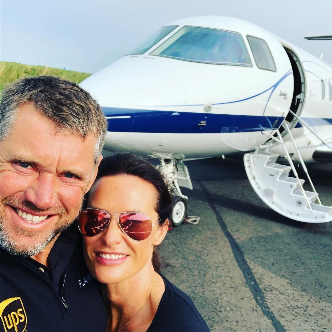 Westy and Storey got a private jet to Denmark for the tournament