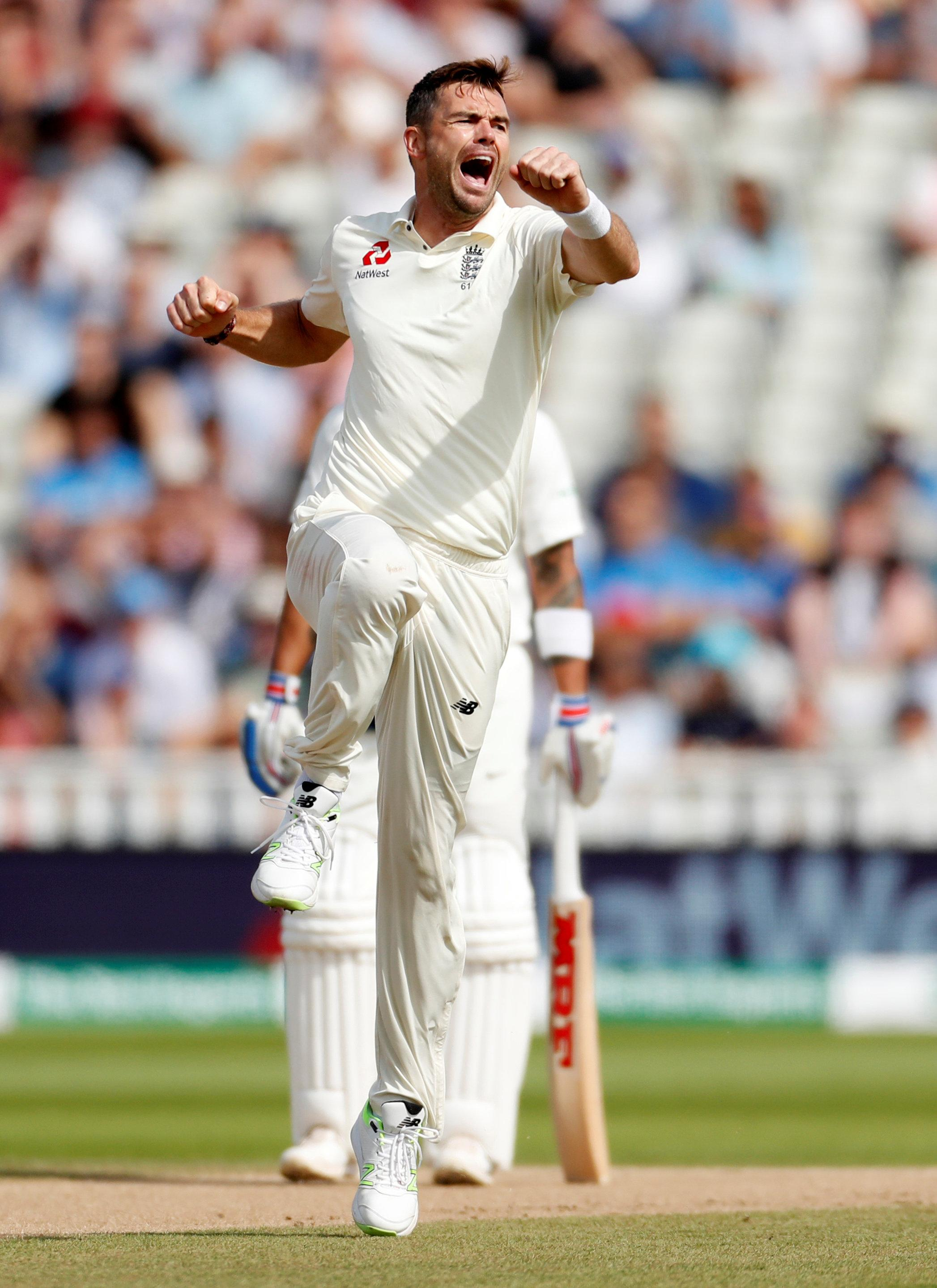 Jimmy Anderson got England off to the perfect start on day four