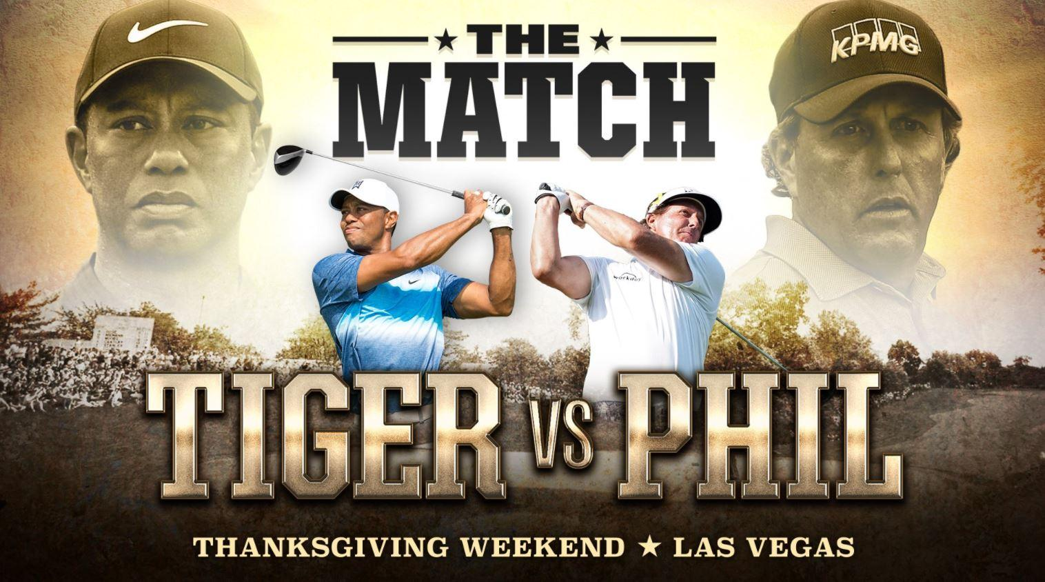 Tiger Woods confirmed he will face Phil Mickelson in Las Vegas in November