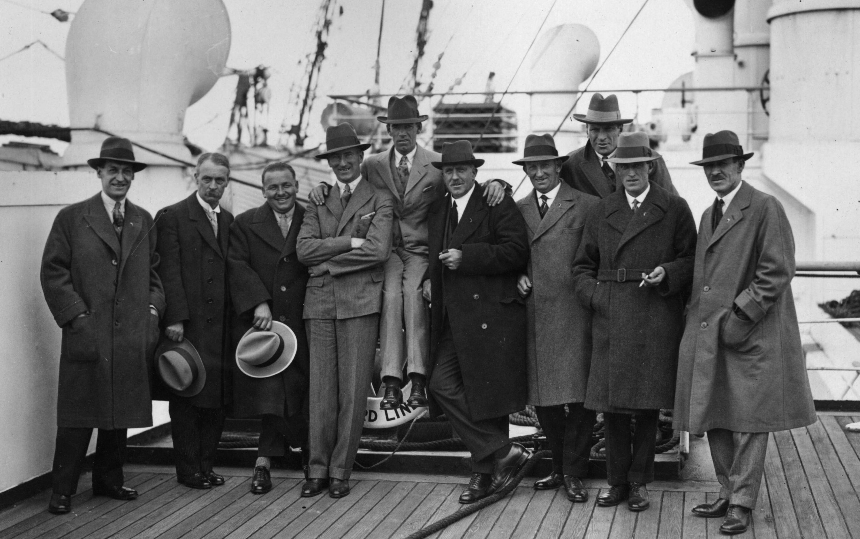 The Great Britain Ryder Cup set sail  for the first tournament in America in 1927