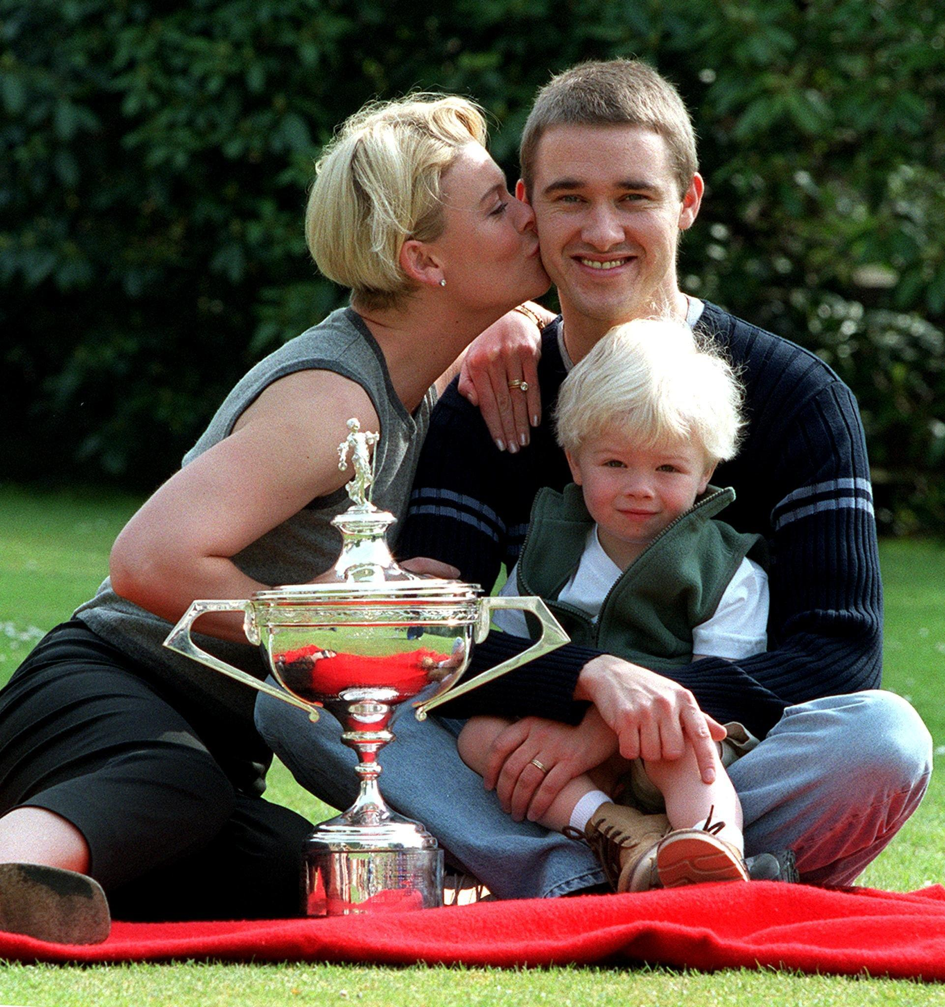 Stephen Hendry has revealed his wife and baby were targeted by threats of an acid attack