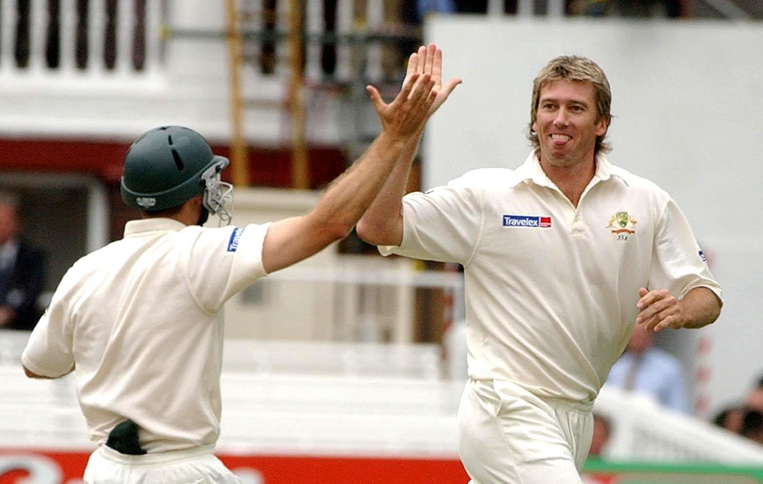The Burnley Express is now level with world-record holder Glenn McGrath