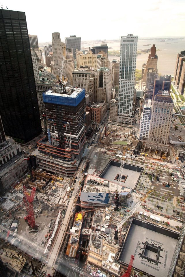 A view of construction at the World Trade Center site on May 5, 2011 in New York City.