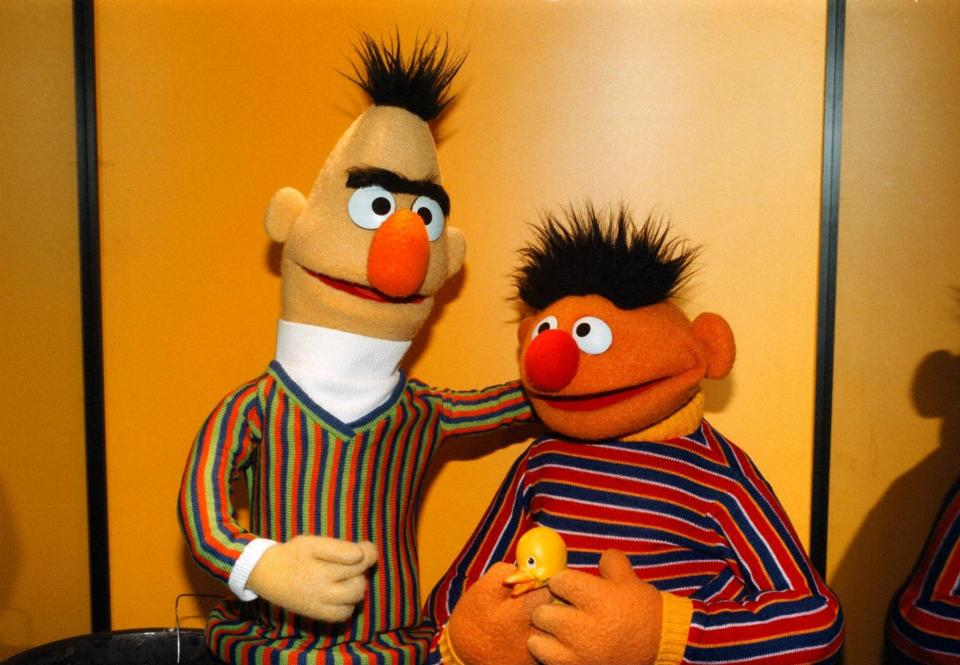 Bert and Ernie lived together in a basement apartment on 123 Sesame Street - though they slept in different beds
