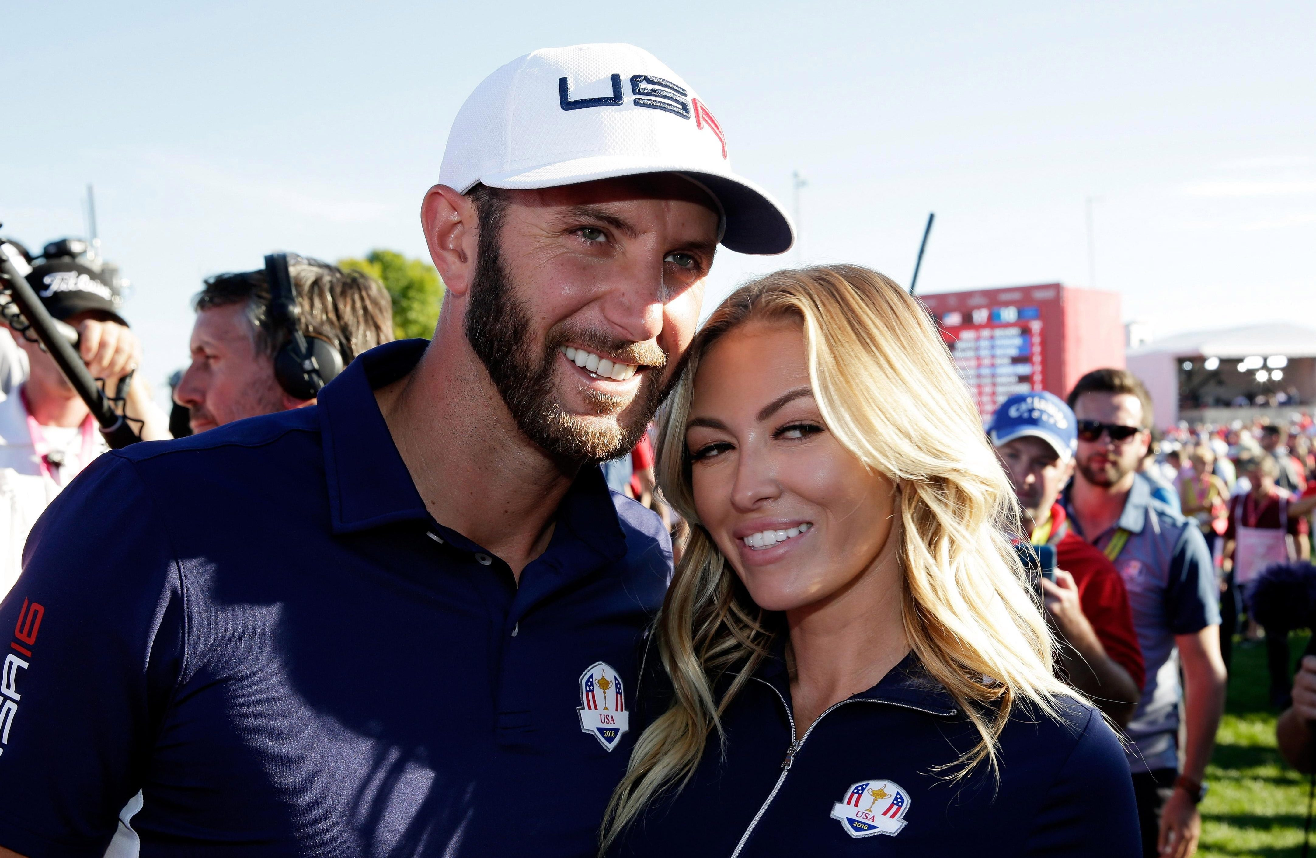 Dustin with Paulina after the 2016 Ryder Cup