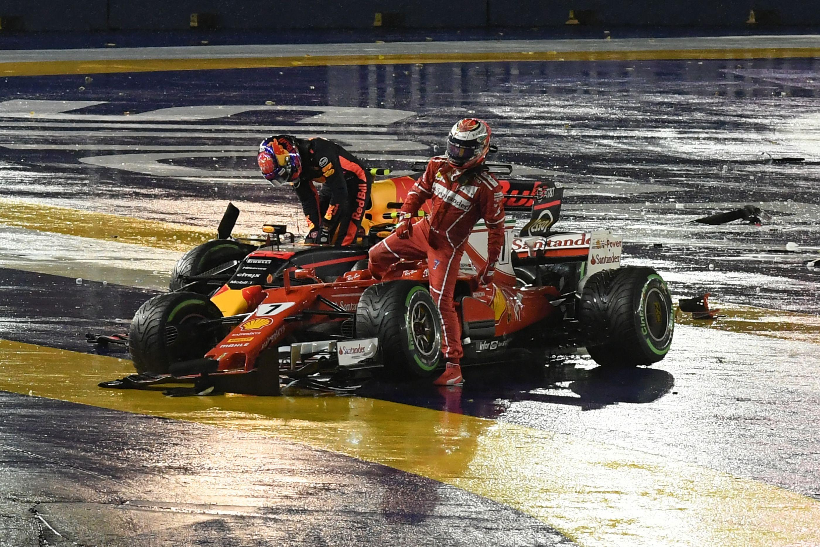 Singapore is notorious for collisions as a tight street circuit