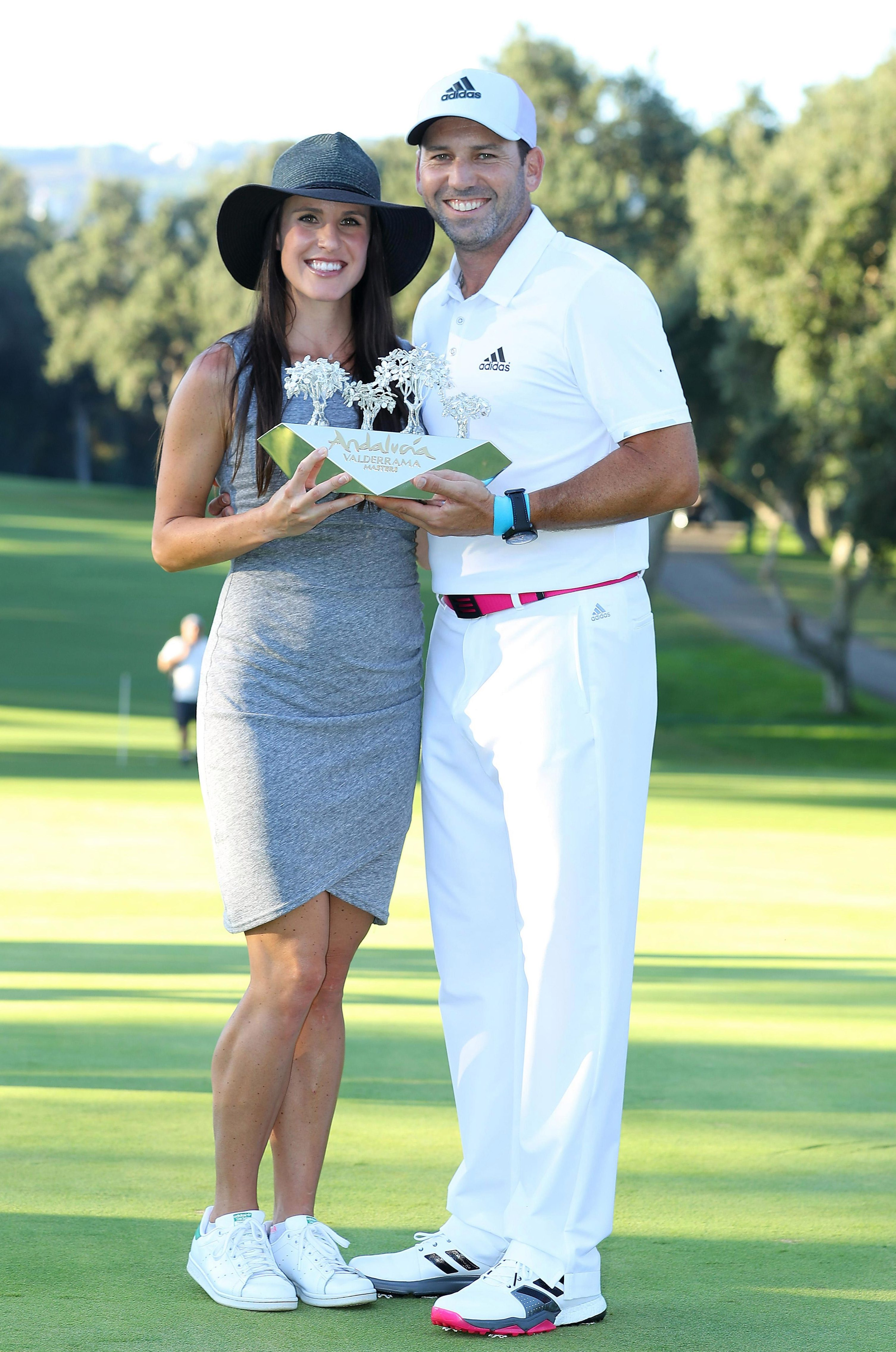 Sergio and Angela Garcia celebrate winning an event in Spain last year