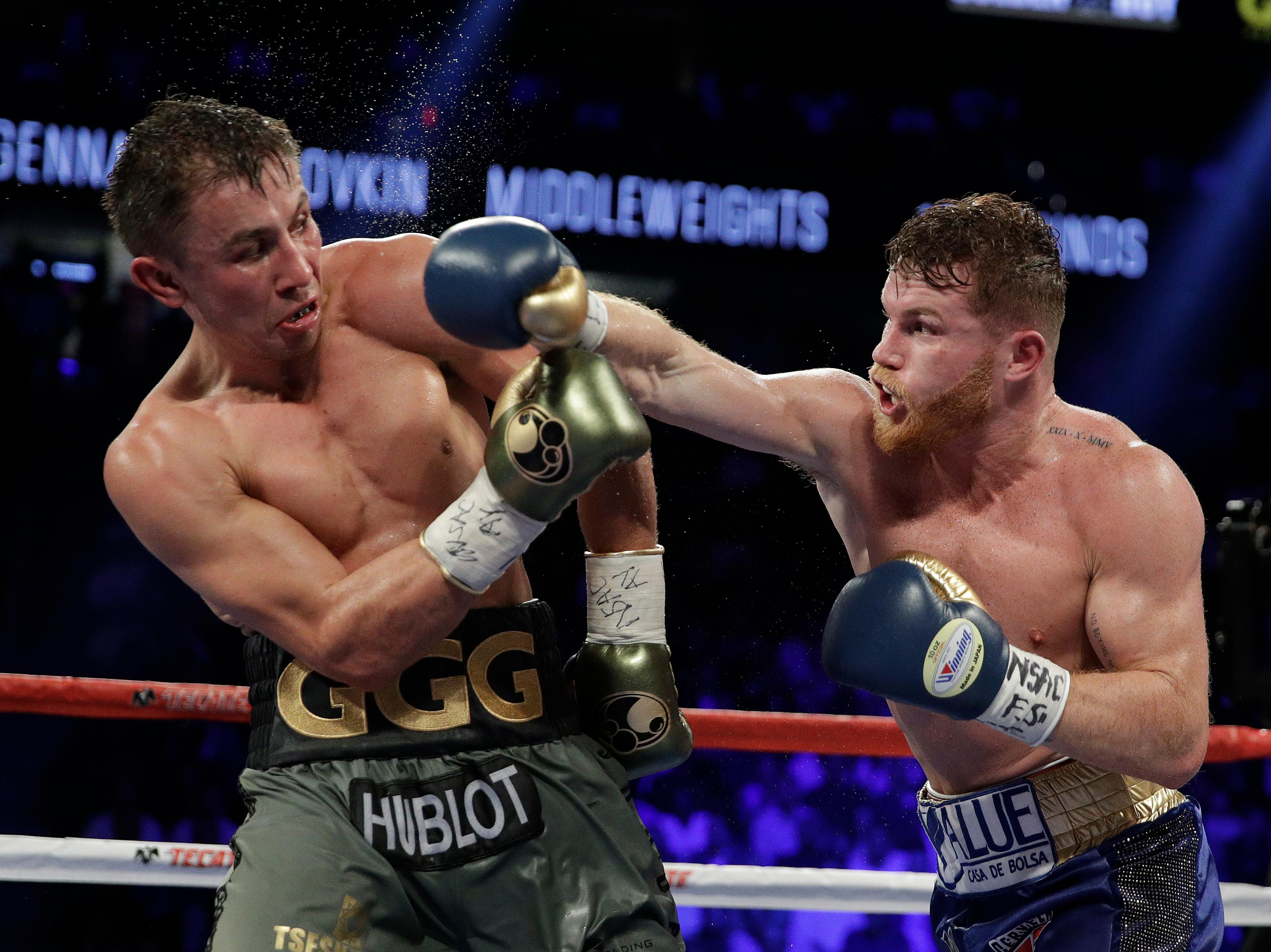 Last year's bout was controversially scored as a draw after one judge surprisingly marked his scorecard with a 118-110 victory for Alvarez