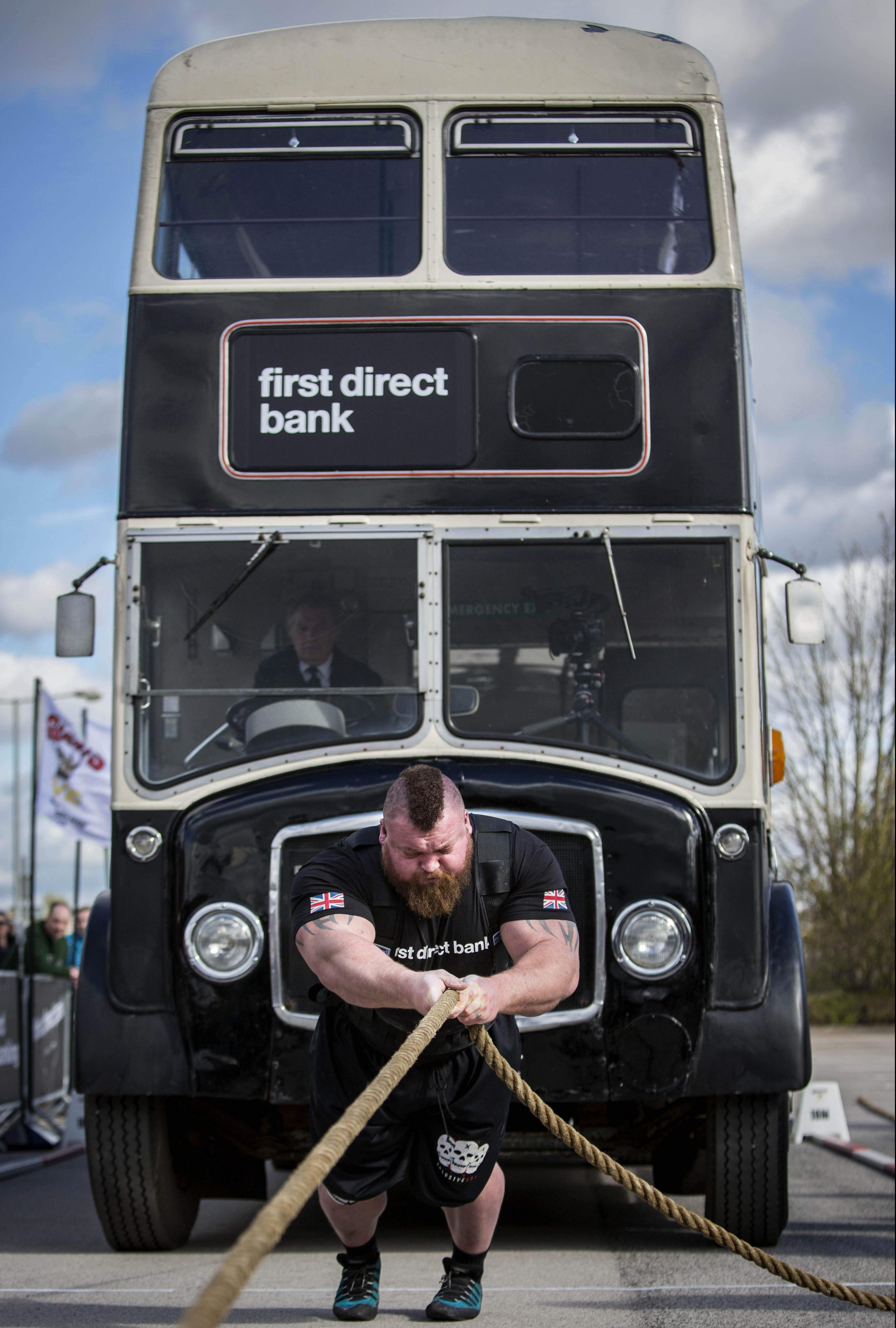 The 30-year-old can pull a double-decker bus