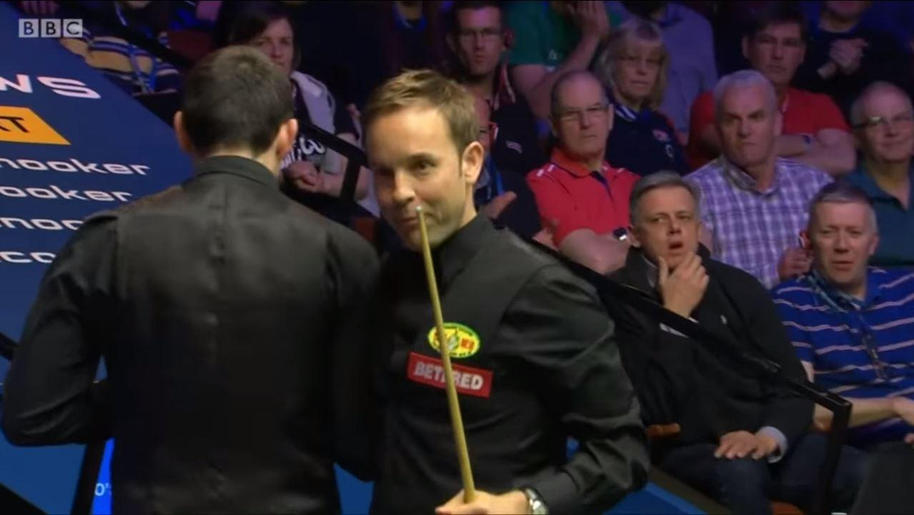 Ronnie O'Sullivan recently barged Ali Carter during the Betfred World Championship