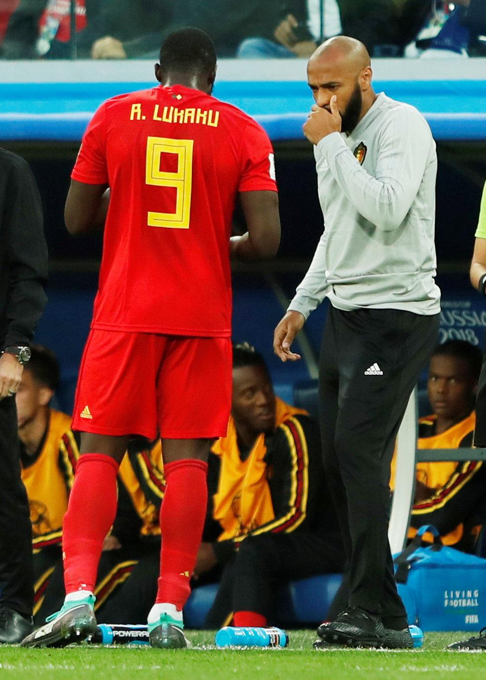 Thierry Henry has played a major role in helping nurture the talent of Lukaku