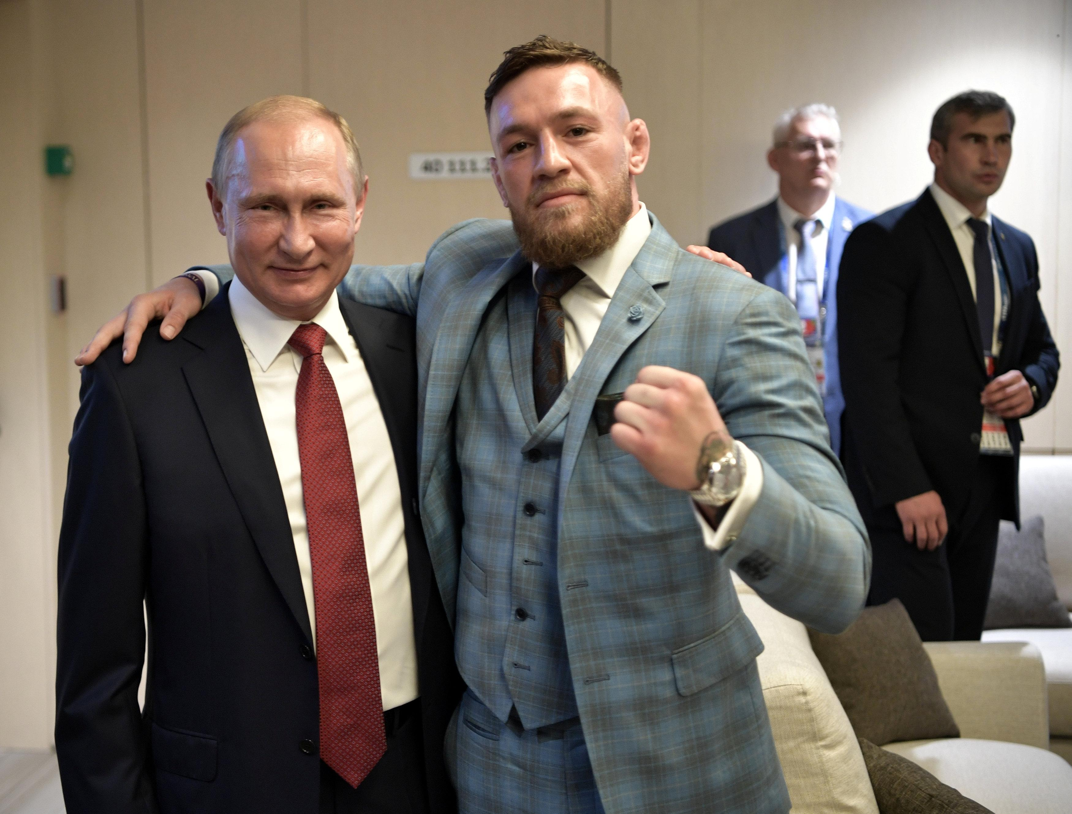 Conor McGregor recently became friends with the Russian leader at the World Cup Final