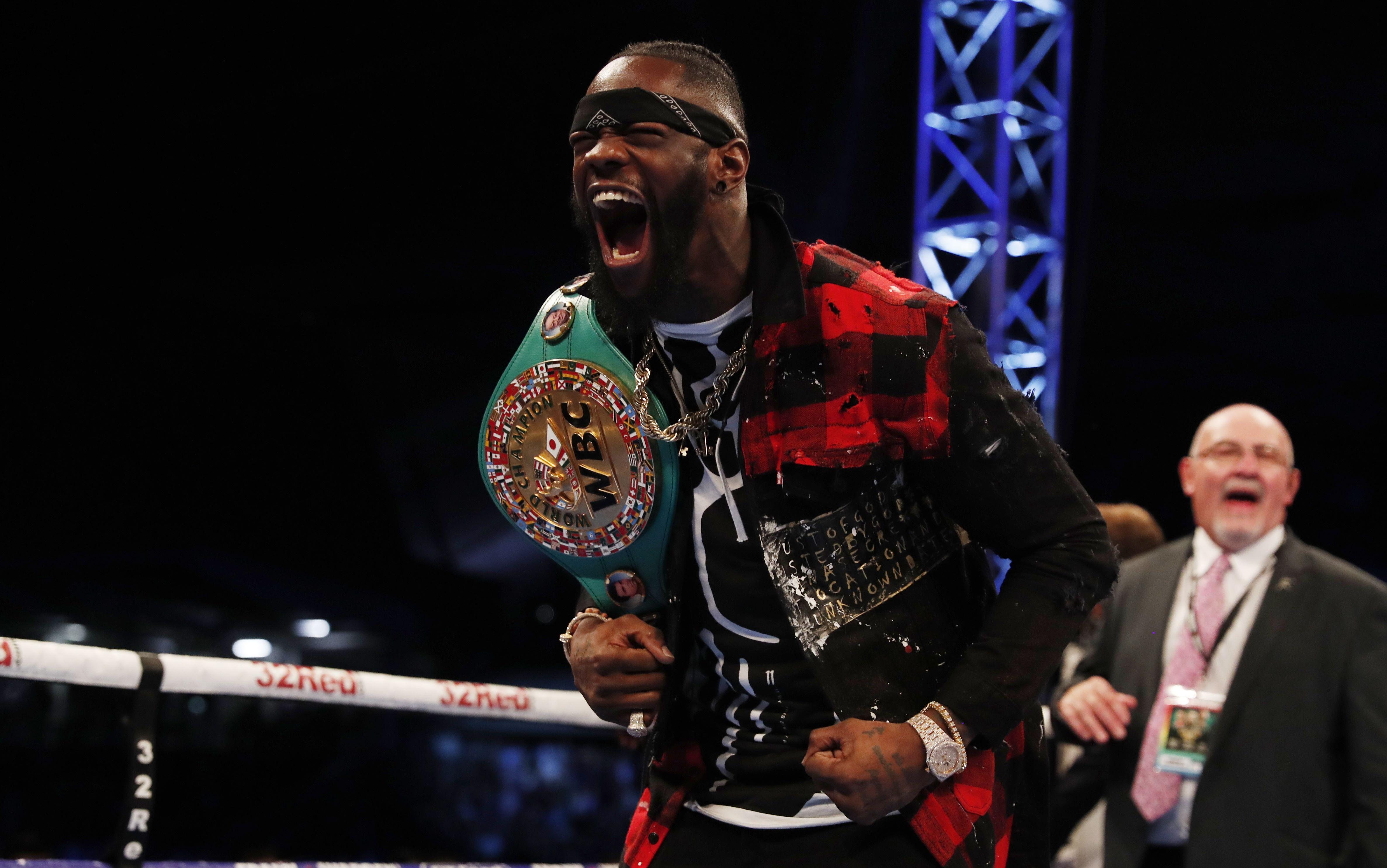 Wilder, 32, has racked up 40 wins with 39 knockout victories since turning professional