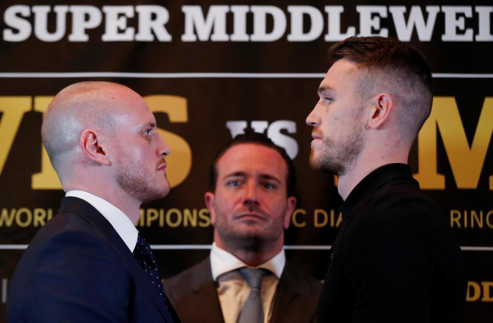 George Groves and Callum Smith face off