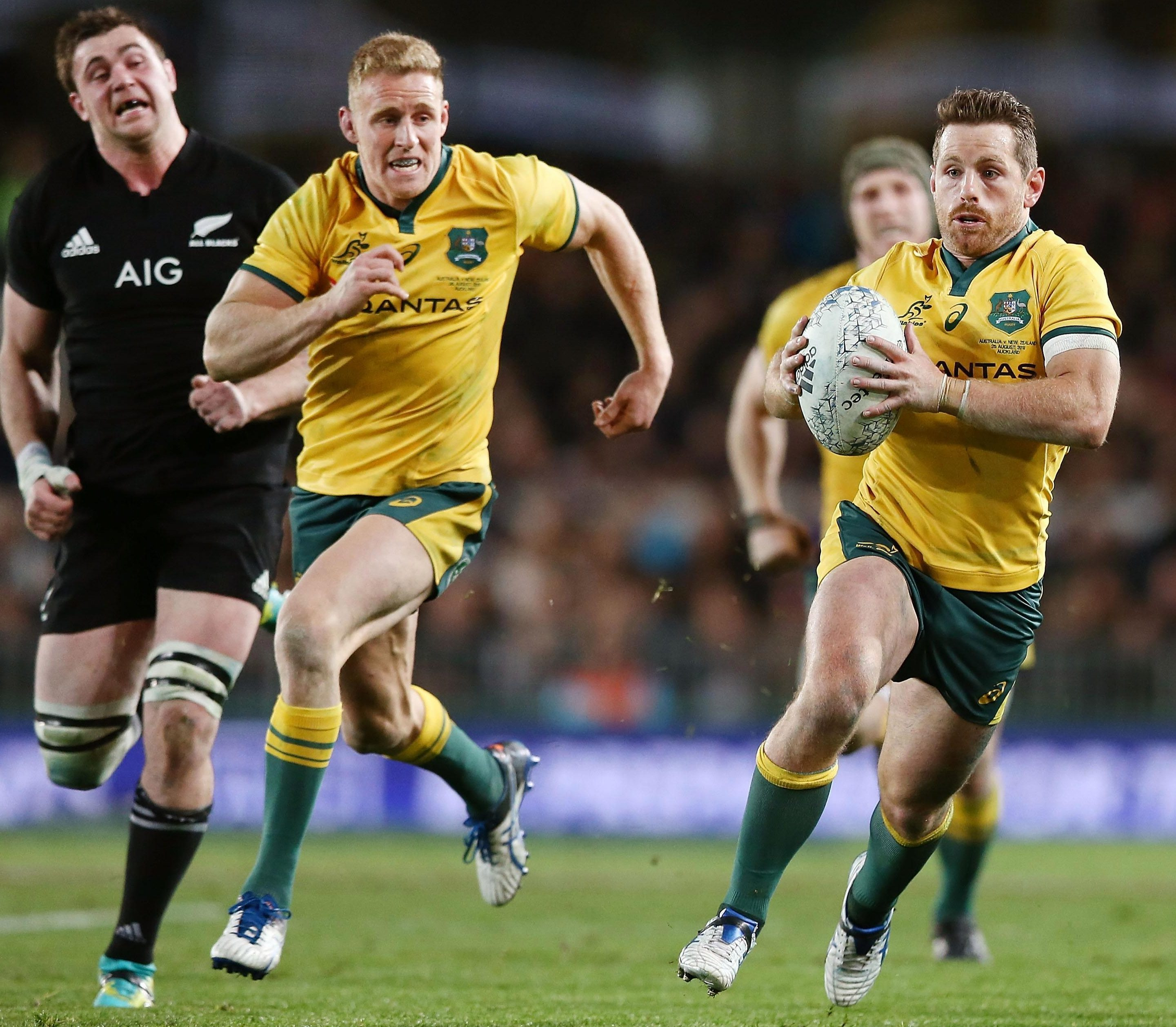 Ball-carrying Wallaby Bernard Foley will be on the bench on Saturday