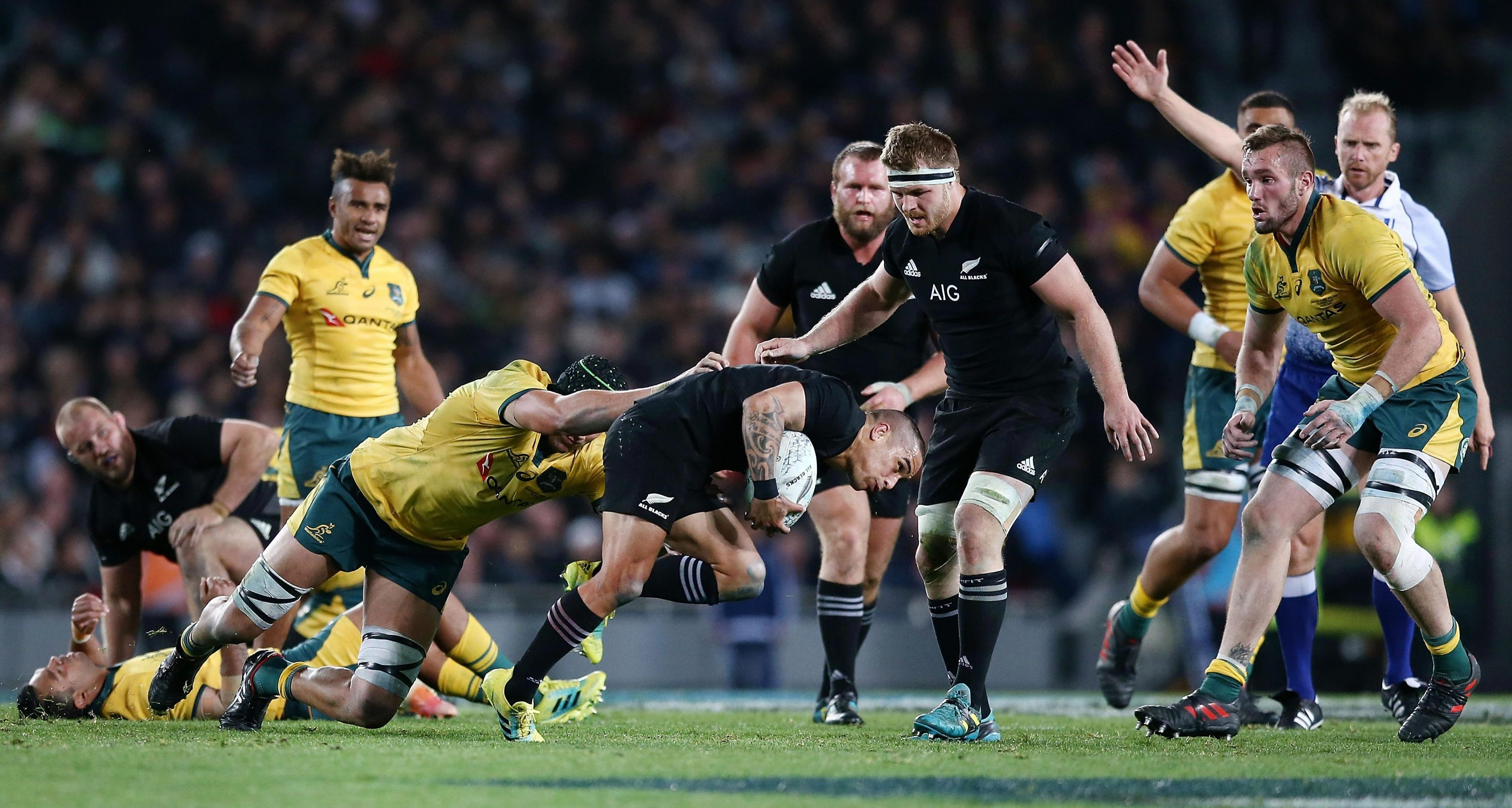 All Black Aaron Smith in action against Australia