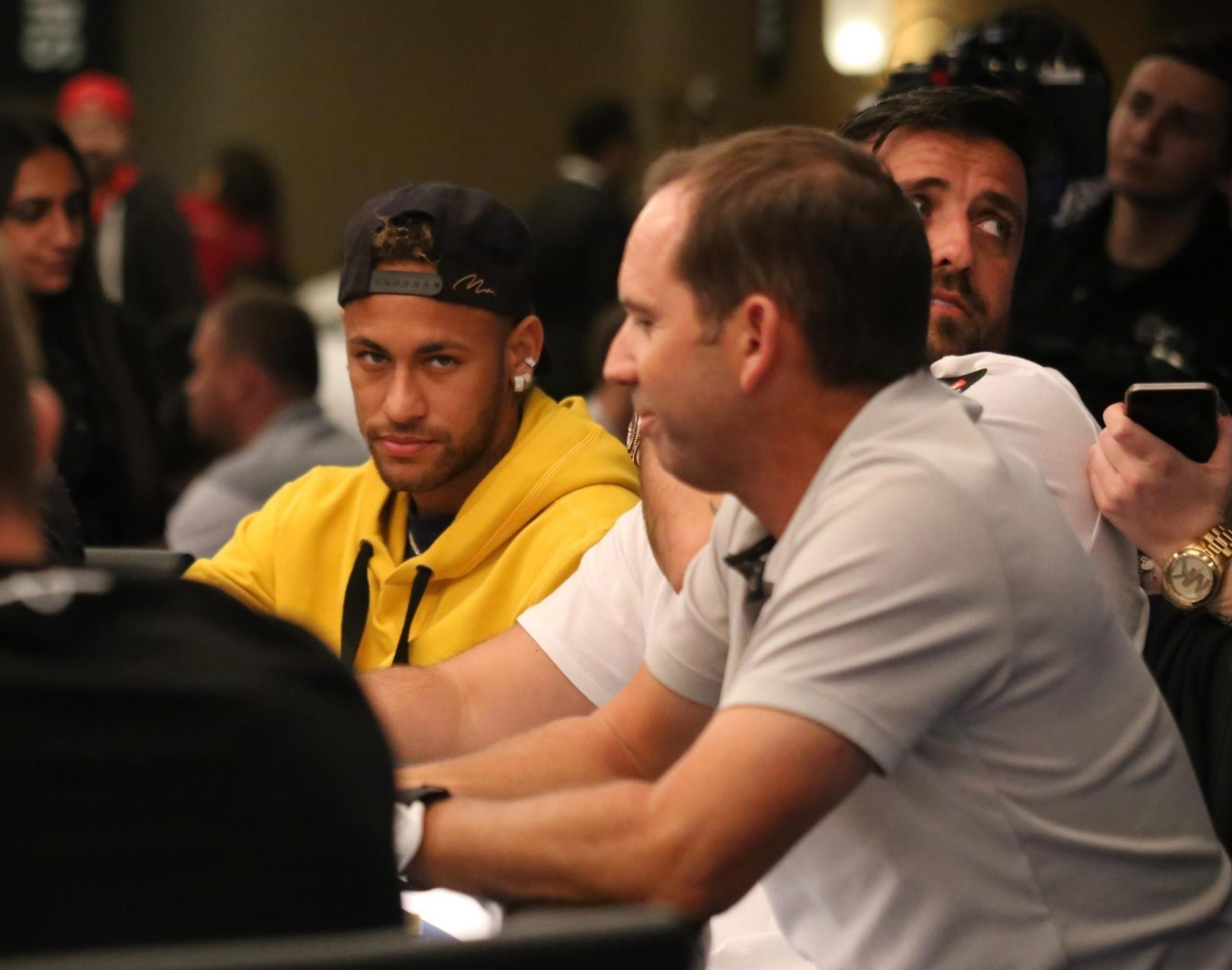 Sergio Garcia missed out on the final chance to impress on the golf course in favour of playing poker with Neymar