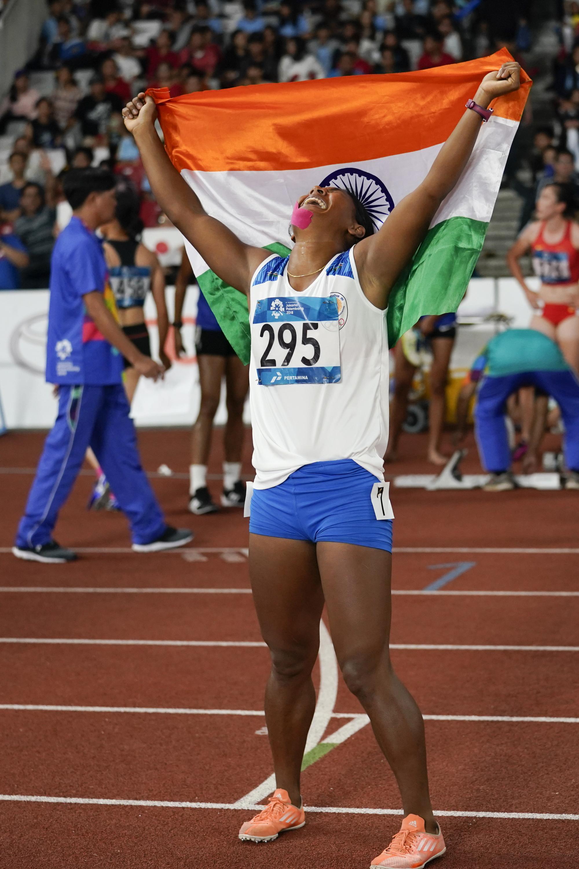 Swapna Barman from India won theregional Olympics last week